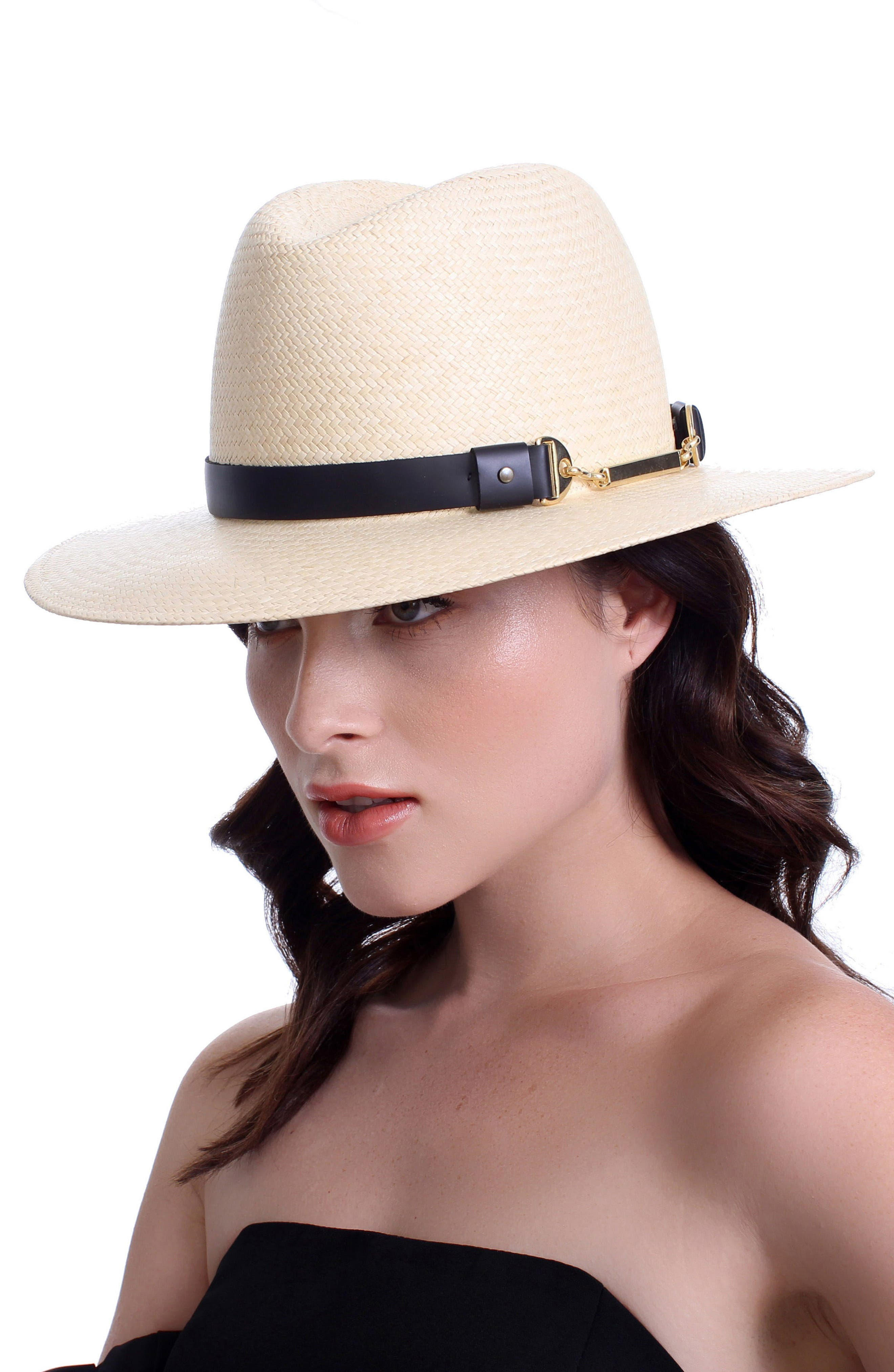The Marlene Straw Panama Hat,                             Alternate thumbnail 3, color,                             Natural