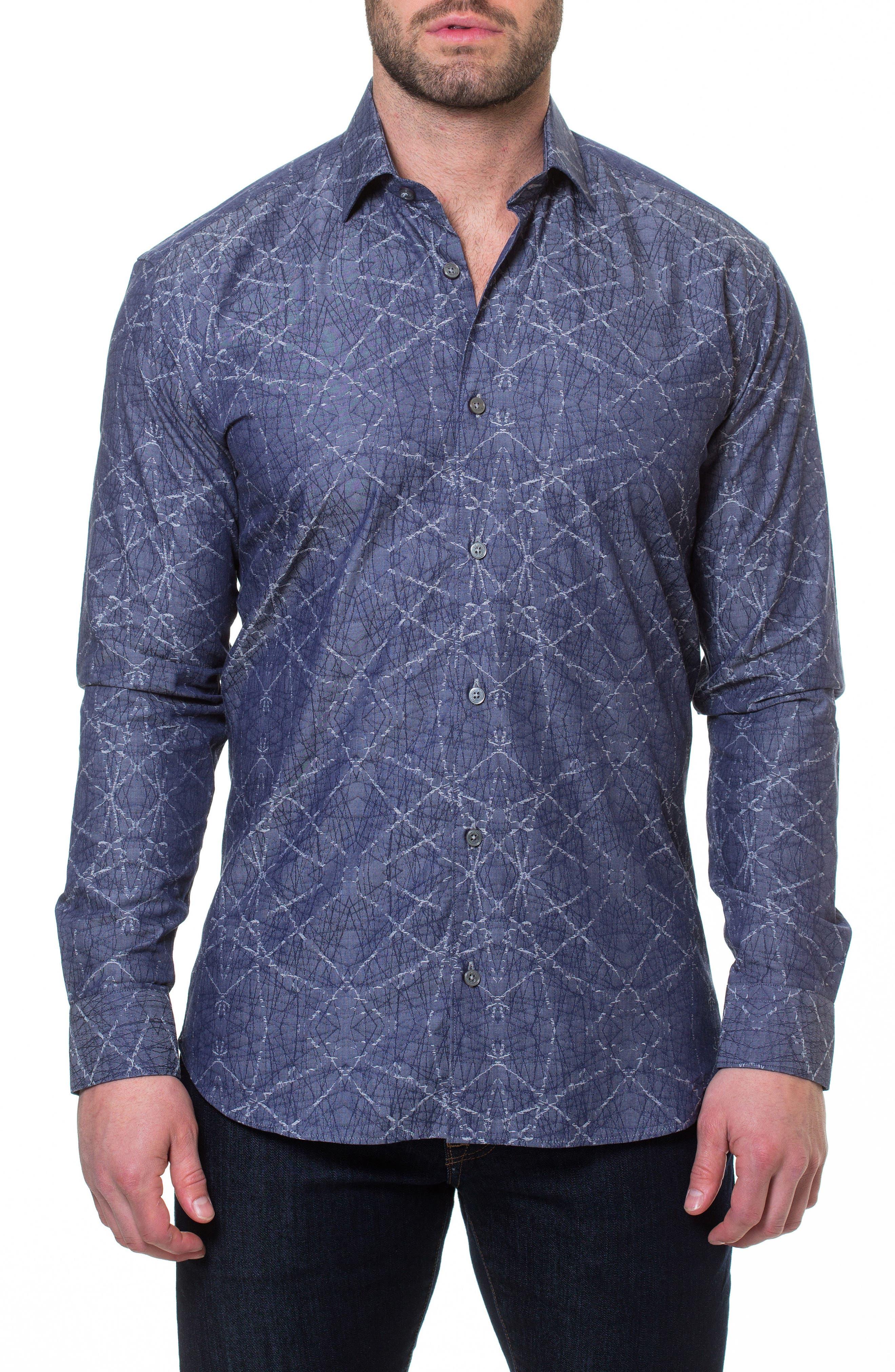 Luxor Spider Slim Fit Sport Shirt,                             Main thumbnail 1, color,                             Blue