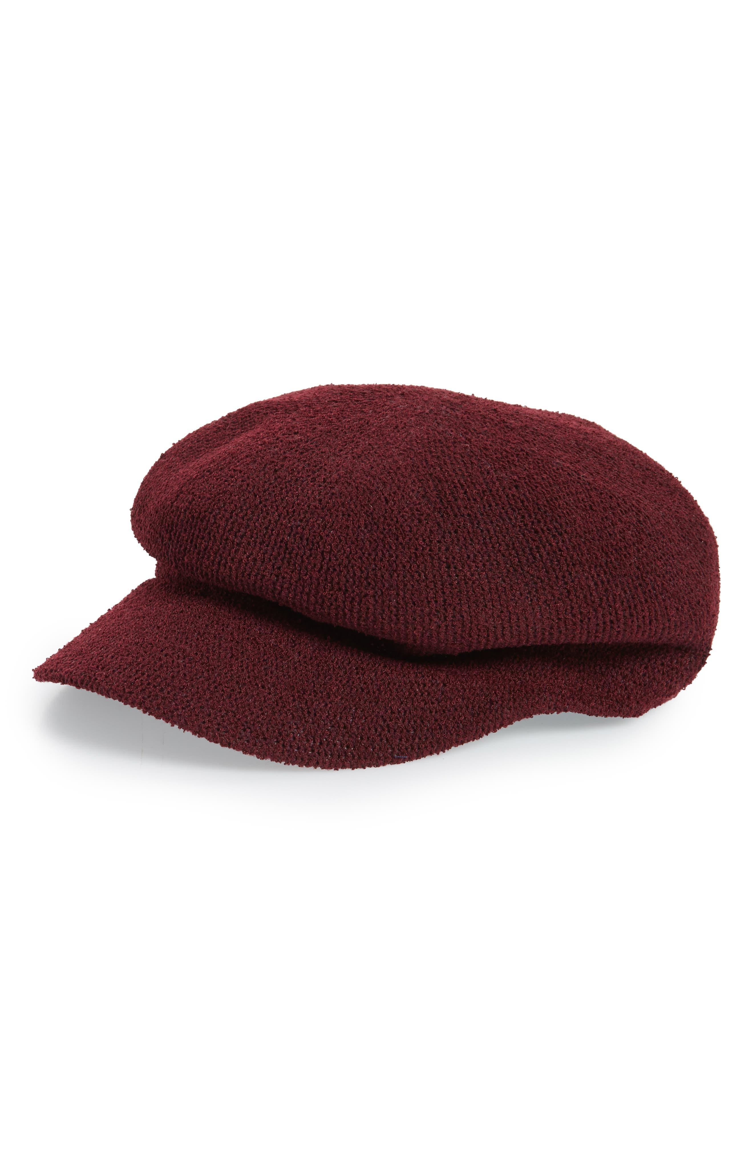 Baker Boy Hat,                         Main,                         color, Red