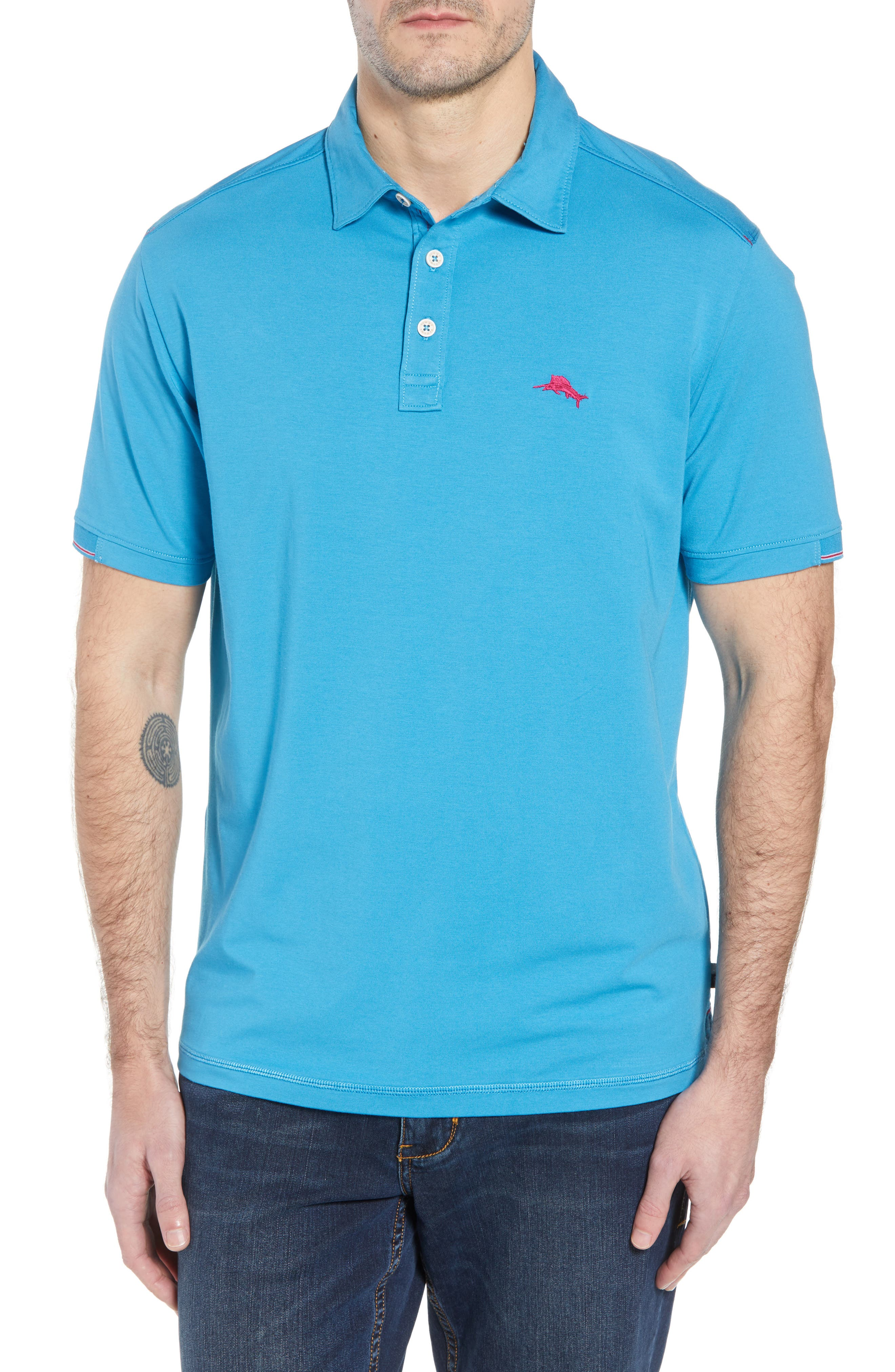 Tropicool Spectator Polo,                         Main,                         color, Voyager Blue