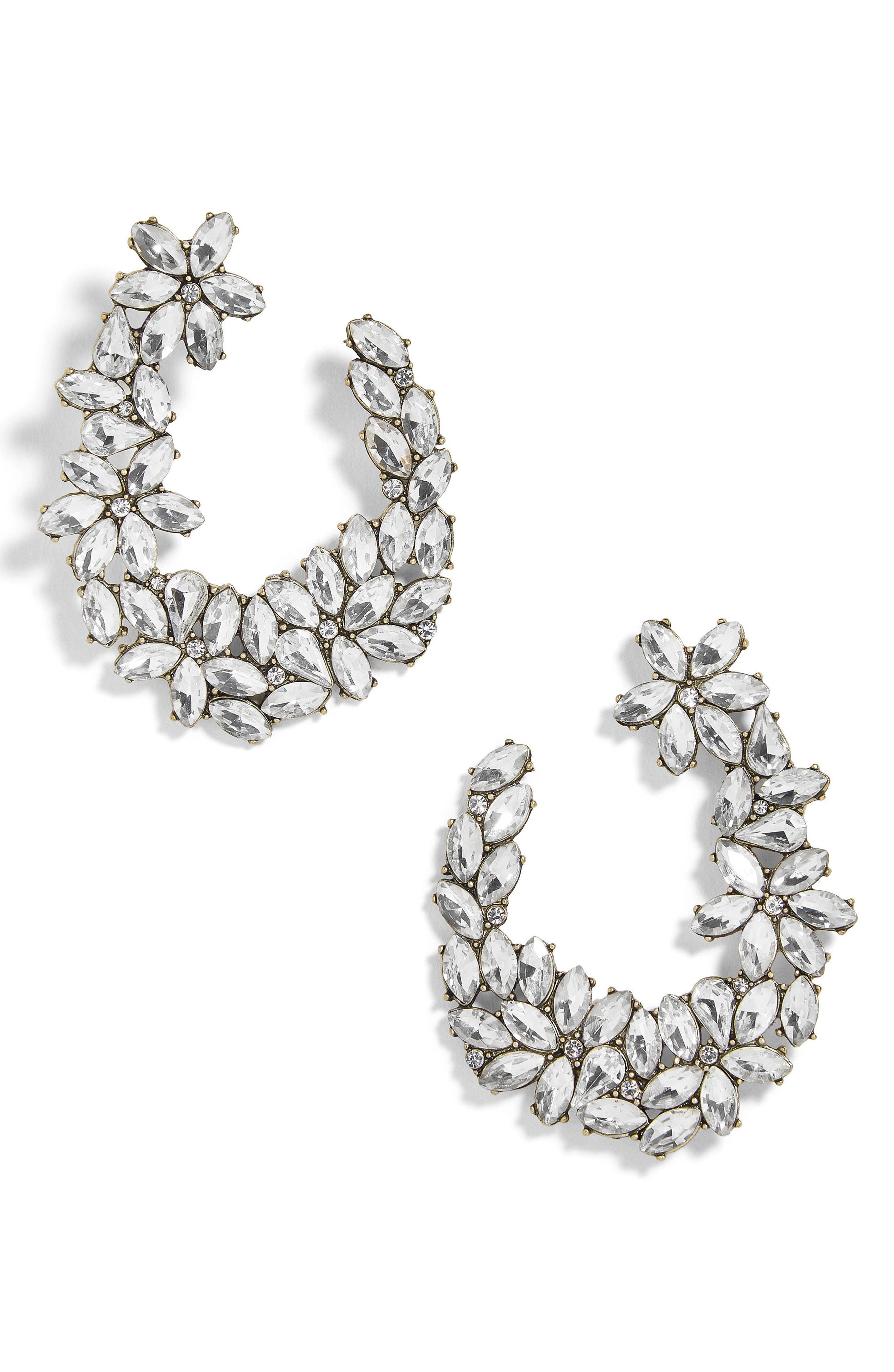 Evolet Hoop Earrings,                         Main,                         color, Antique Gold