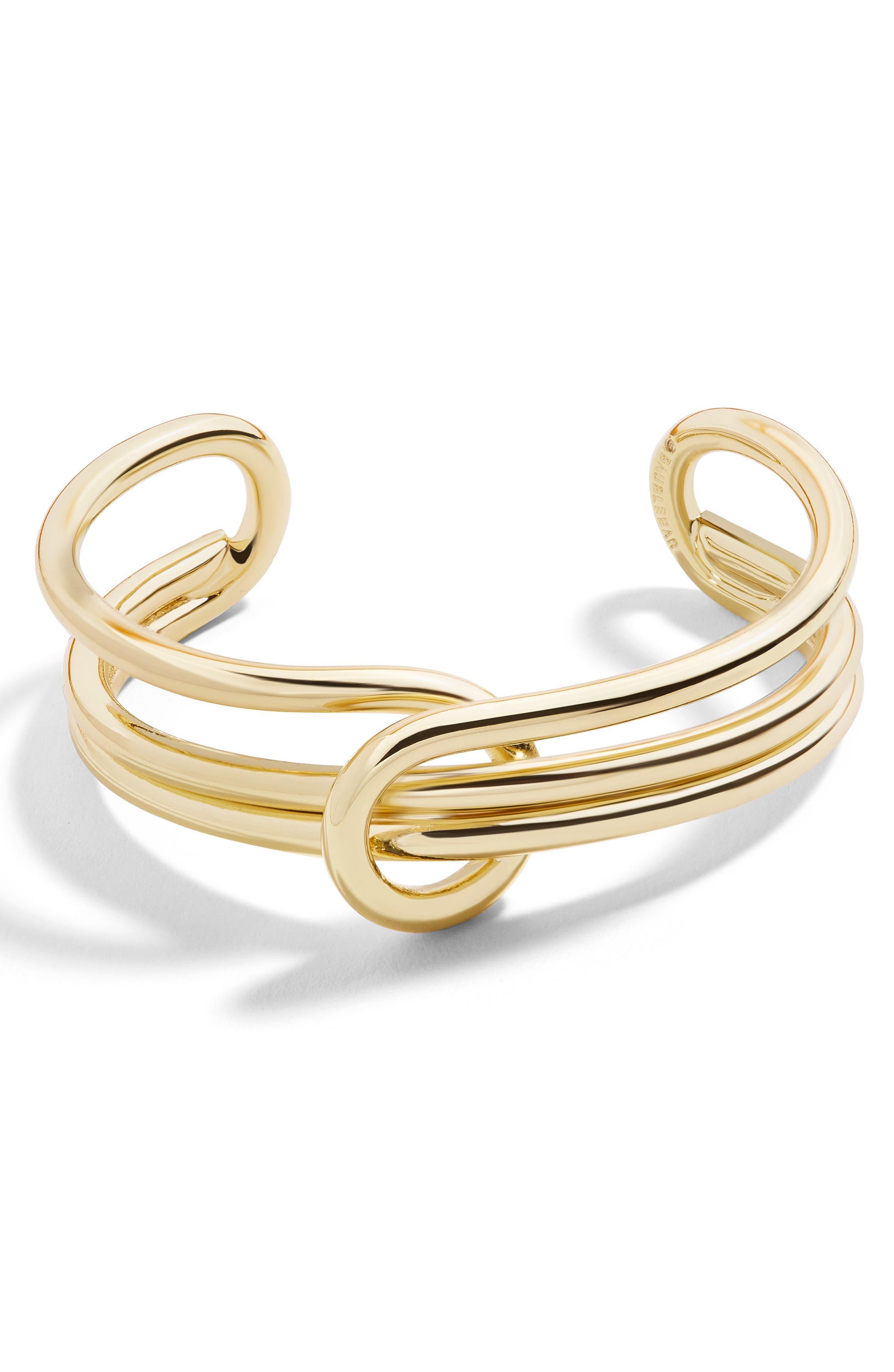 Shyanna Cuff Bracelet,                             Main thumbnail 1, color,                             Gold