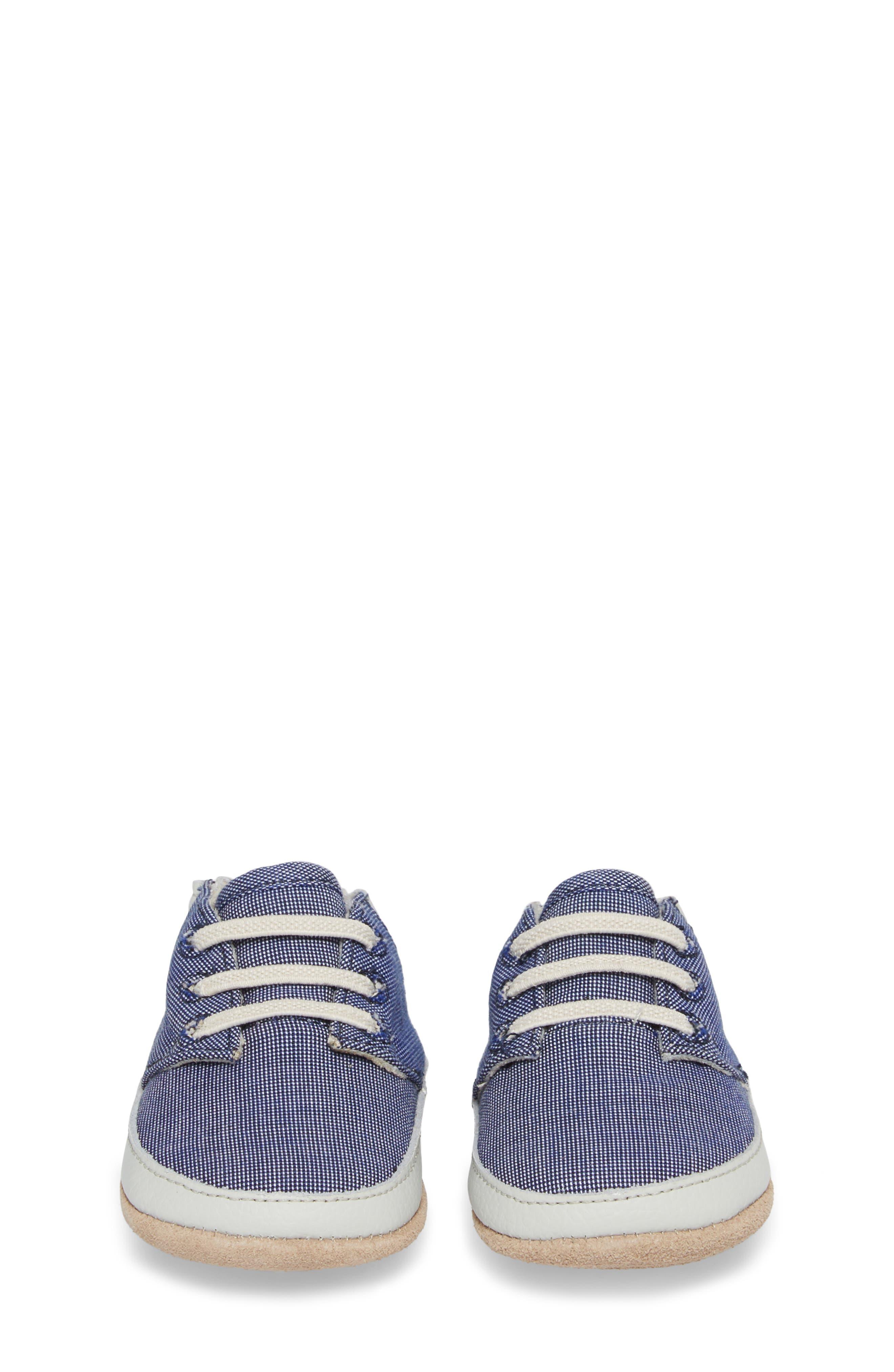 Steven Crib Sneaker,                             Alternate thumbnail 5, color,                             Denim