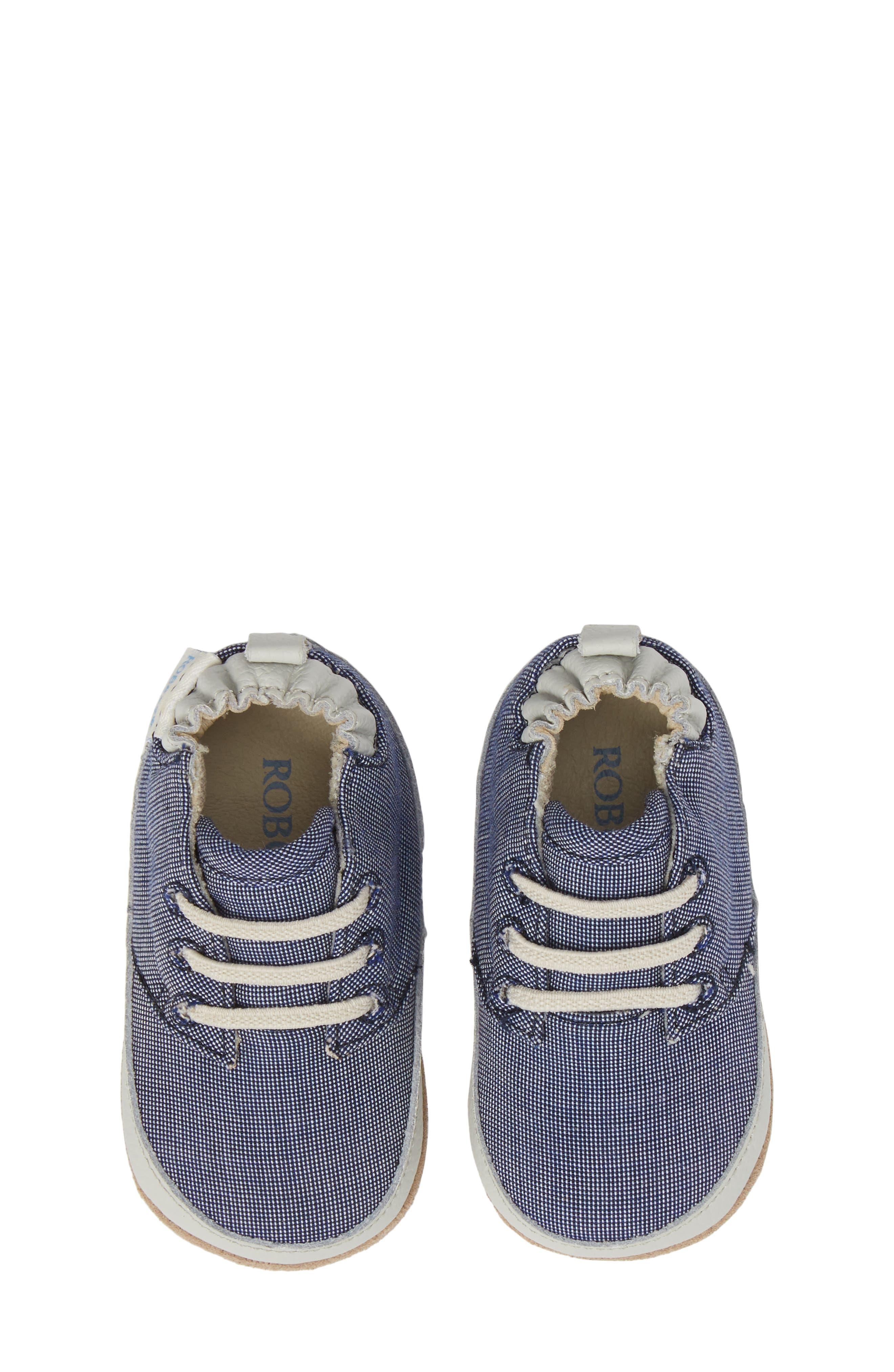 Steven Crib Sneaker,                             Main thumbnail 1, color,                             Denim
