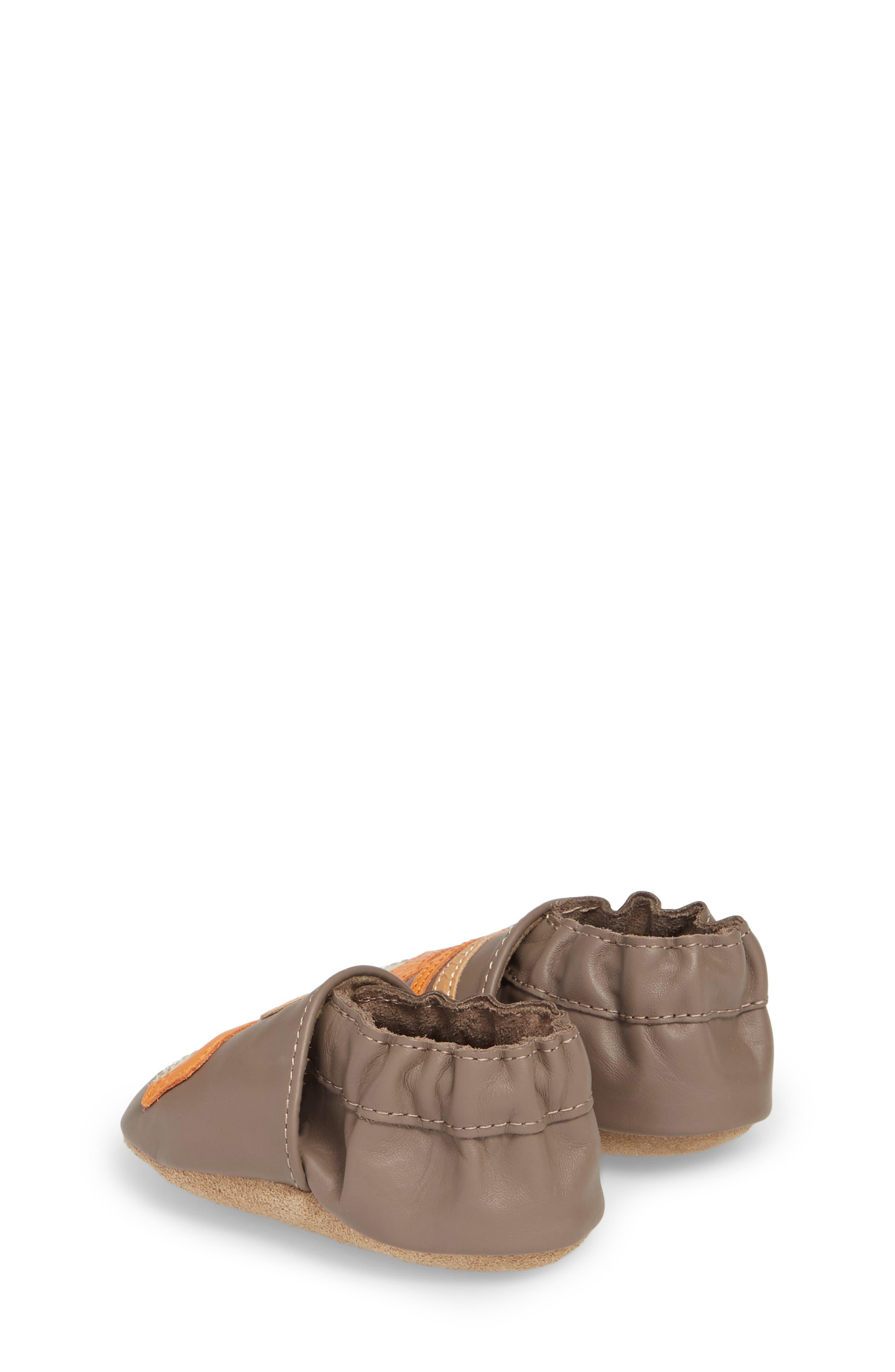 Alternate Image 2  - Robeez® Life is an Adventure Crib Shoe (Baby & Walker)