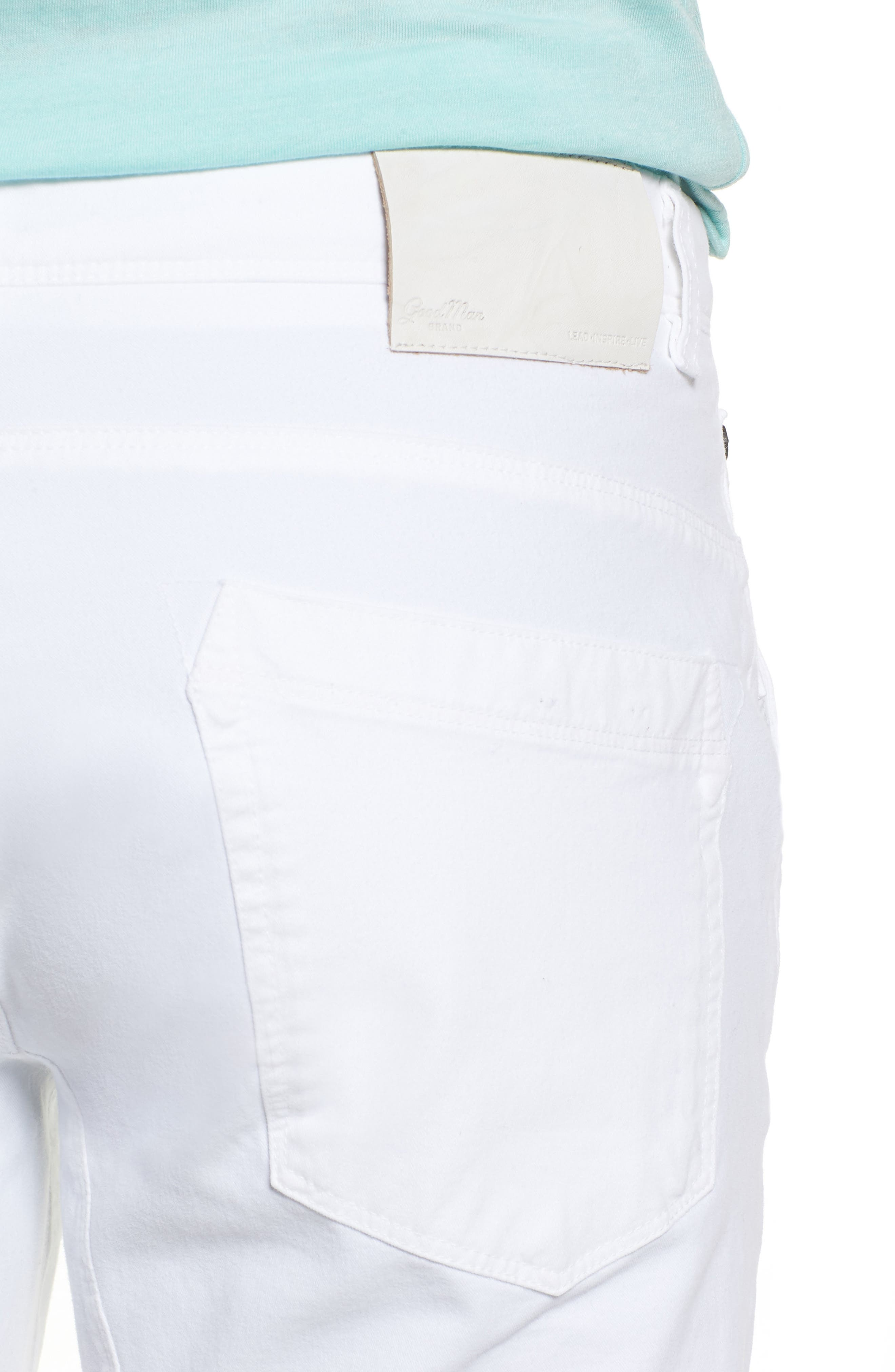 Hybrid Slim Fit Stretch Pants,                             Alternate thumbnail 4, color,                             White