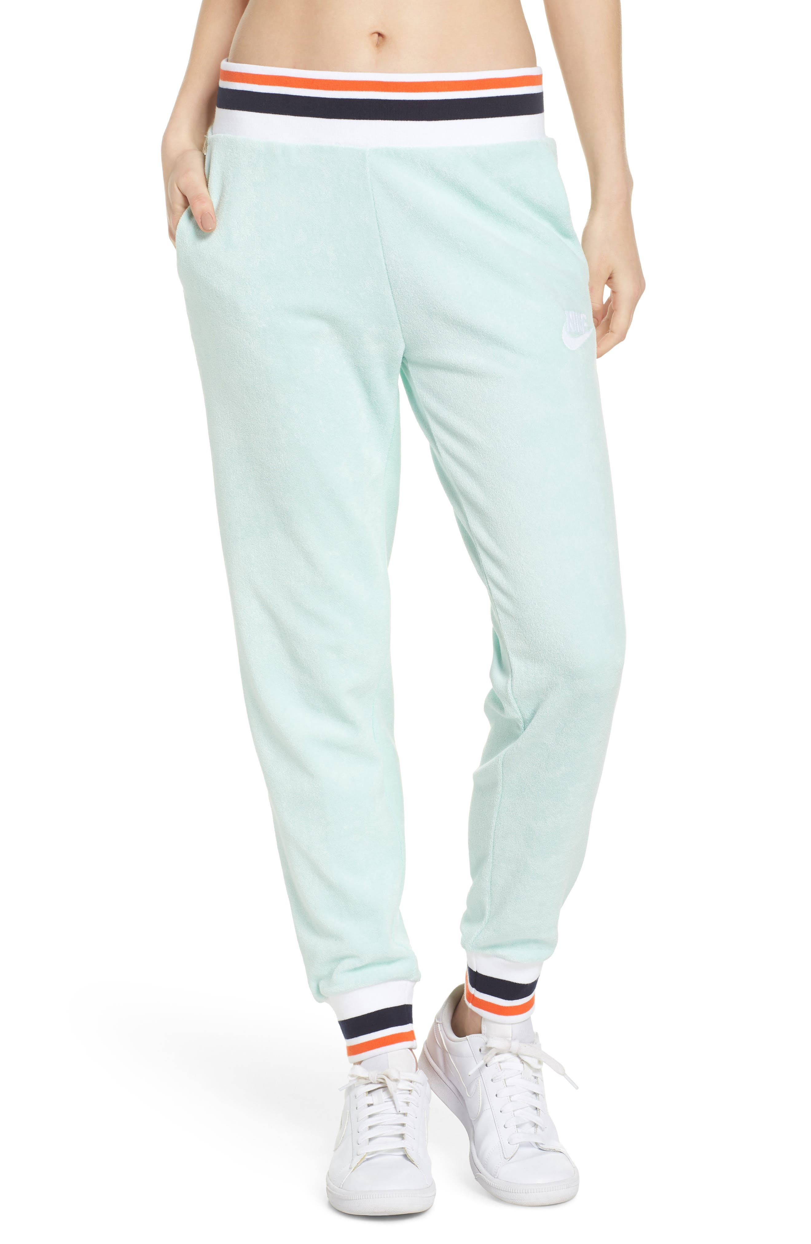 Sportswear French Terry Pants,                         Main,                         color, Igloo/ White