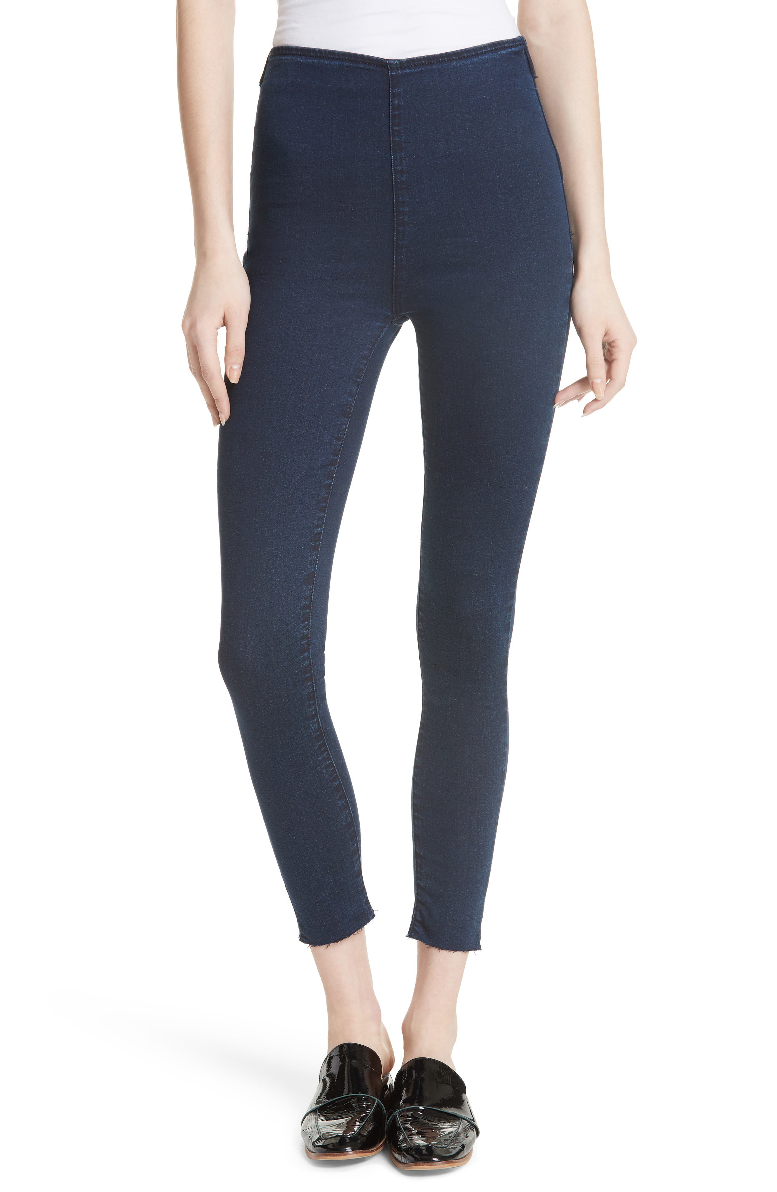 Easy Goes It Leggings,                         Main,                         color, Dark Denim