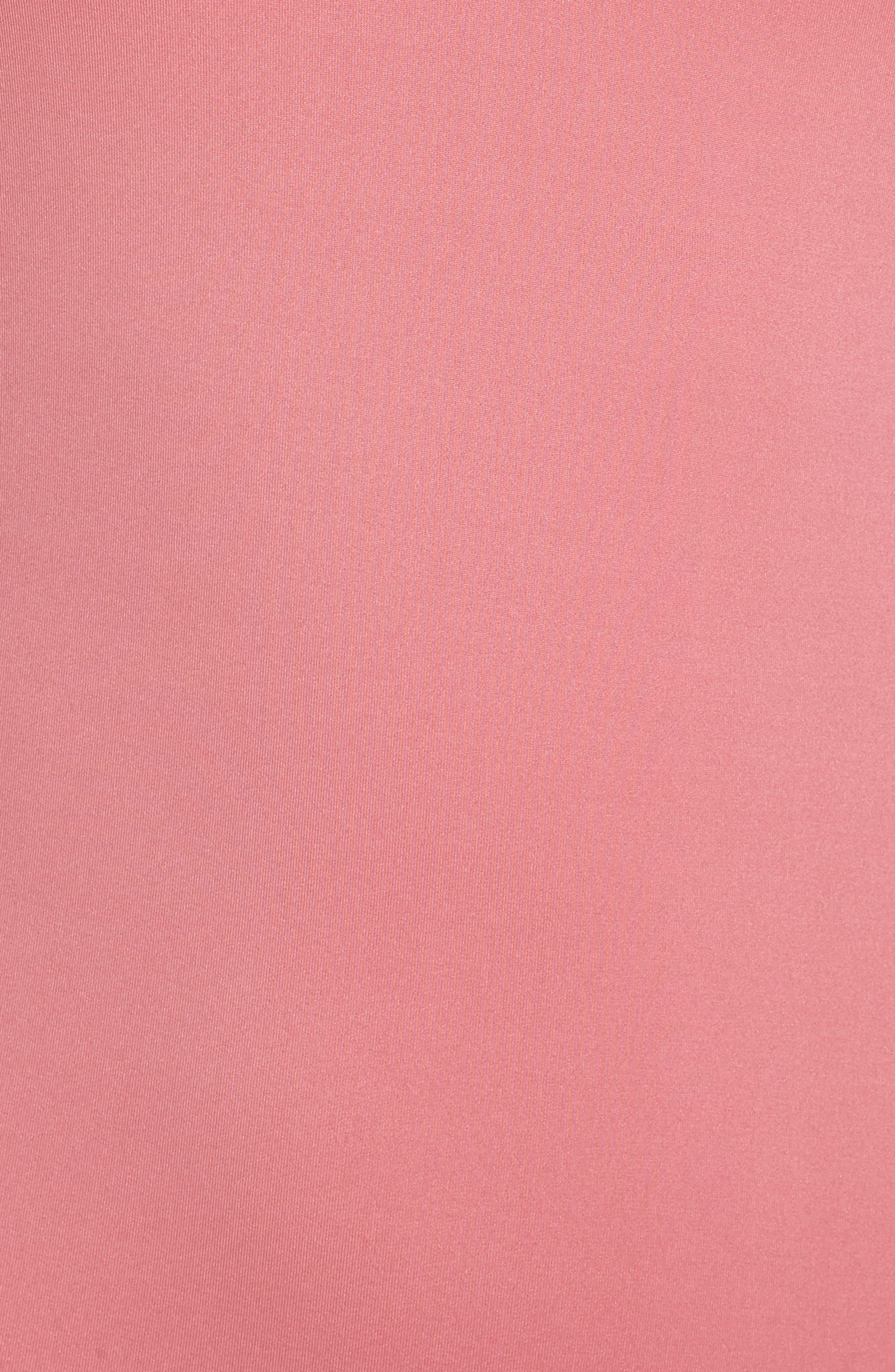Cutout One-Piece Swimsuit,                             Alternate thumbnail 5, color,                             Dusty Rose