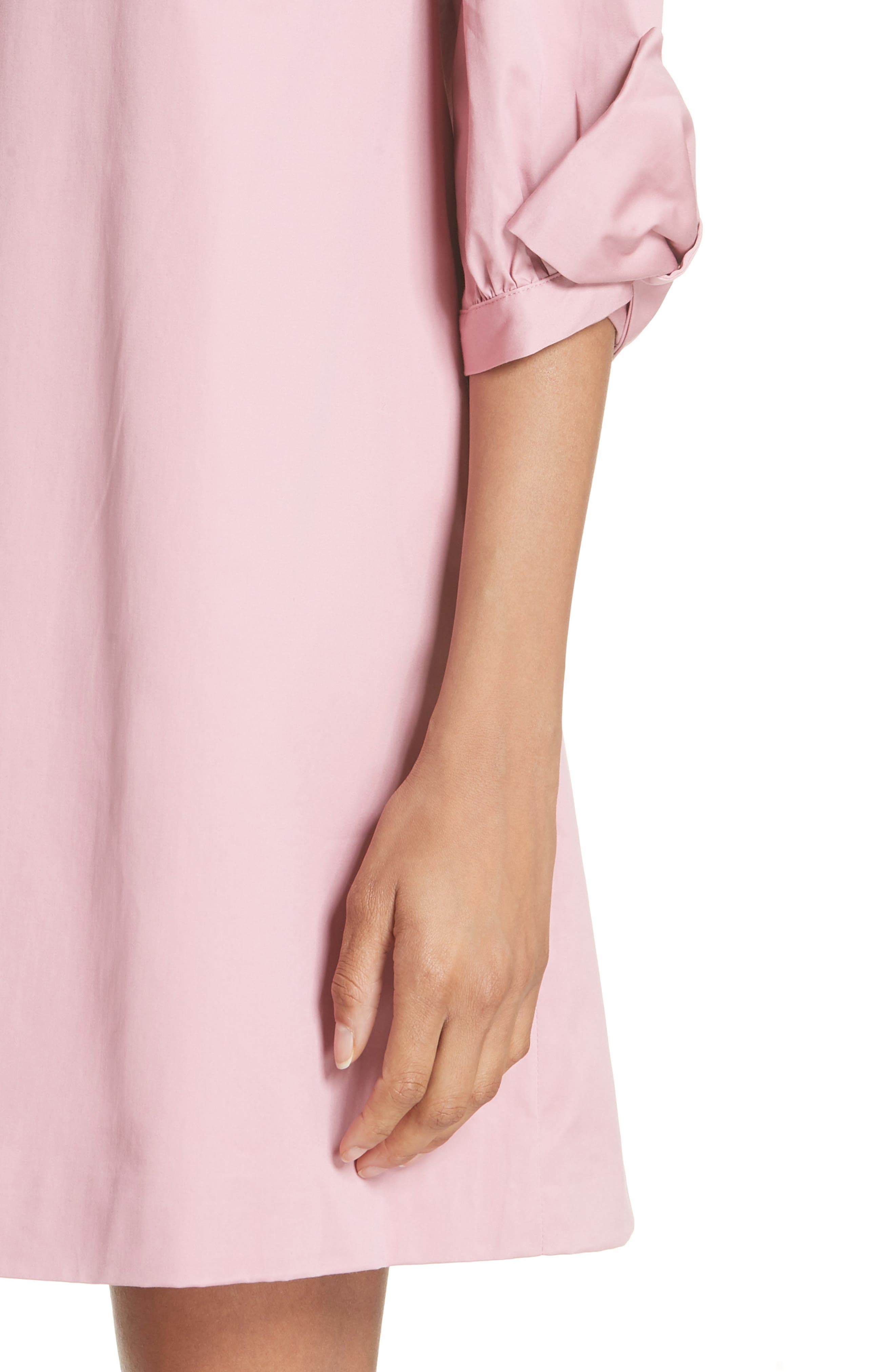 Oversize Sleeve Tunic Dress,                             Alternate thumbnail 3, color,                             Dusky Pink