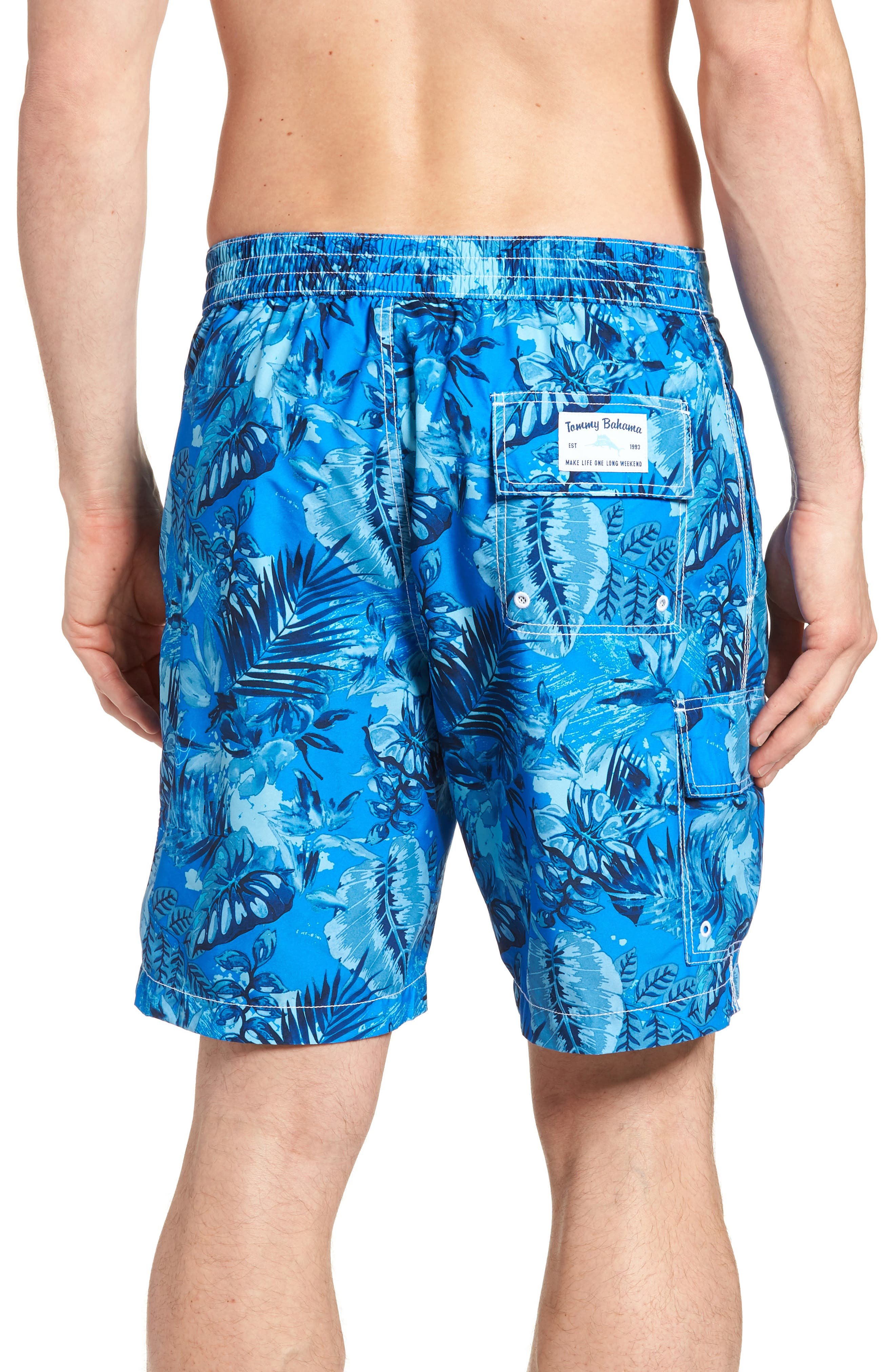 Baja Selva Shores Board Shorts,                             Alternate thumbnail 2, color,                             Blue Spark