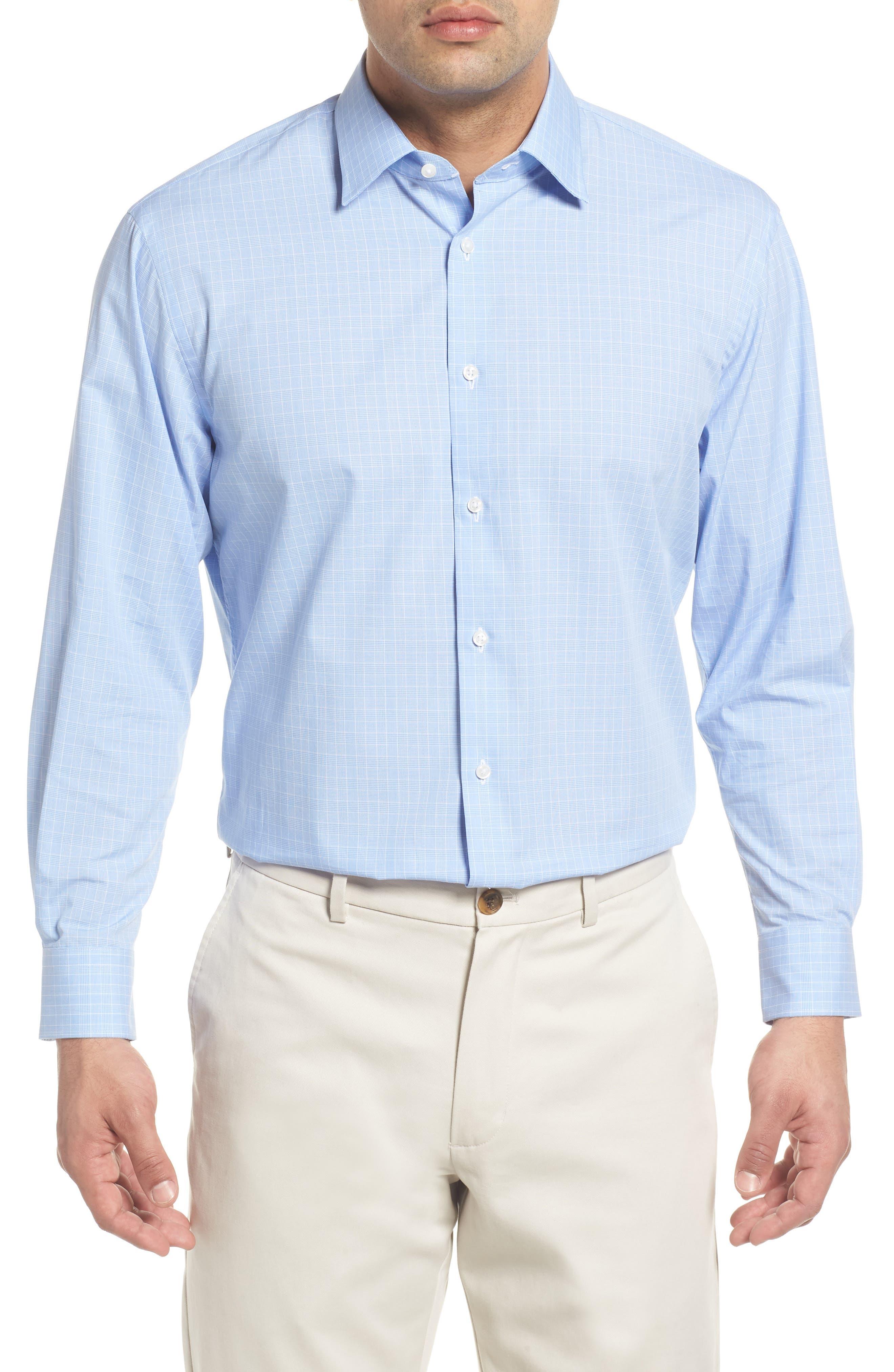 Traditional Fit Dress Shirt,                         Main,                         color, Blue Bel Air
