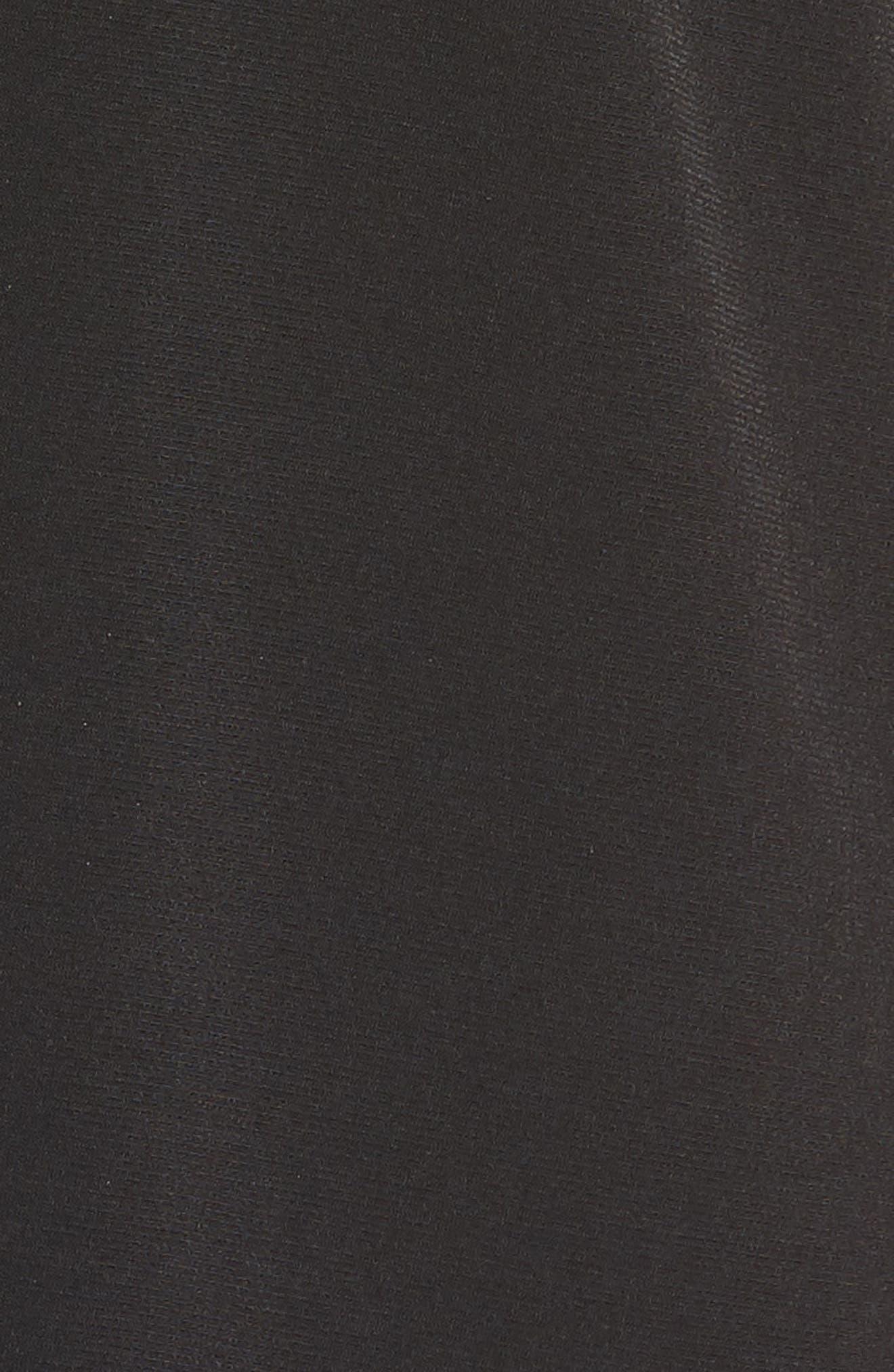 Chain Lace Caftan Top,                             Alternate thumbnail 6, color,                             Black/ Silver