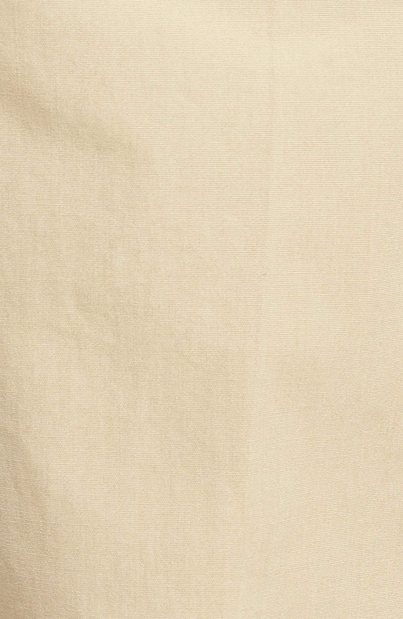 M3 Straight Fit Flat Front Tropical Poplin Pants,                             Alternate thumbnail 5, color,                             Khaki