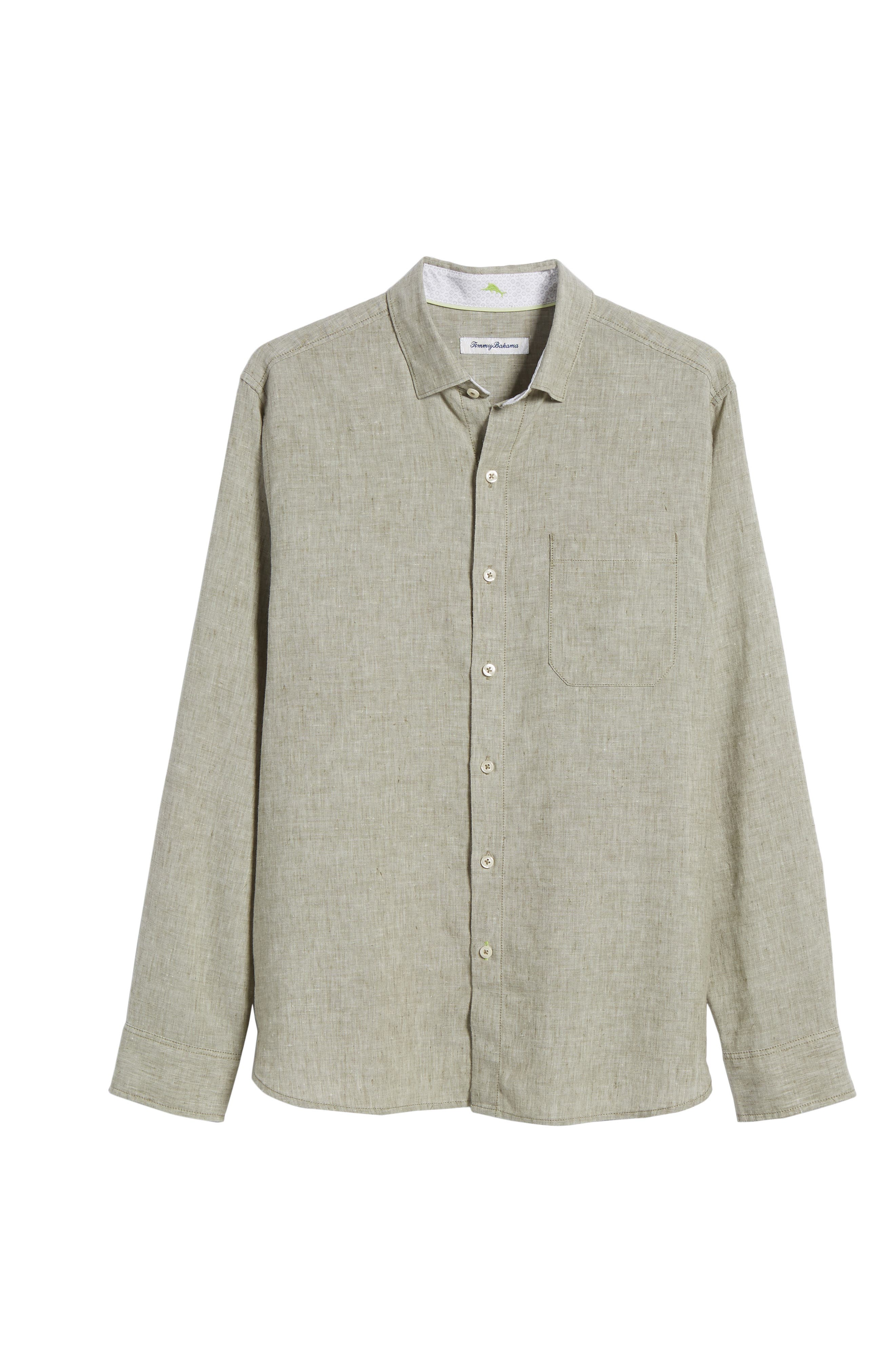 Alternate Image 6  - Tommy Bahama Lanai Tides Regular Fit Linen Blend Sport Shirt