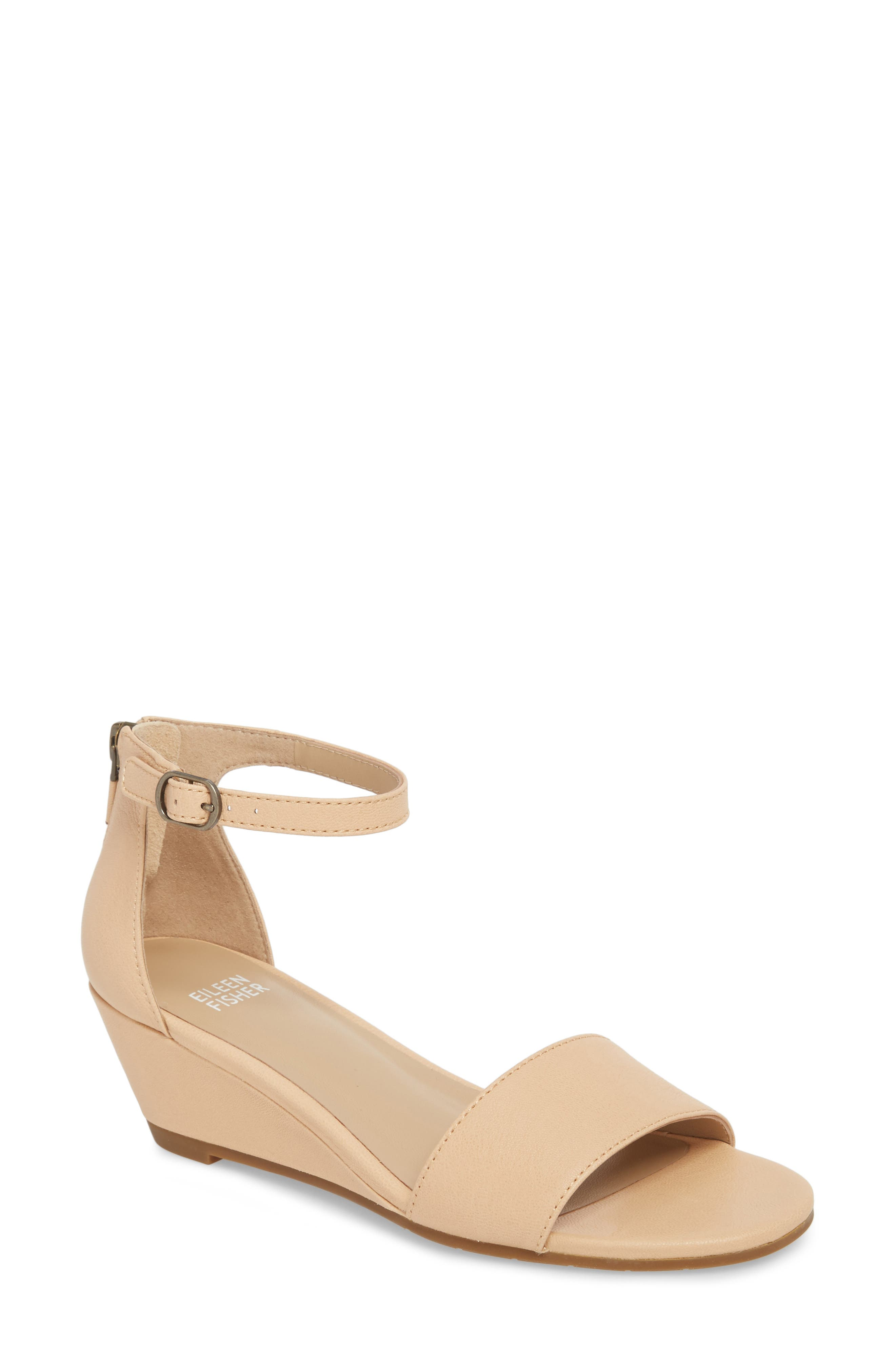 Eileen Fisher Mara Ankle Strap Wedge Sandal (Women)