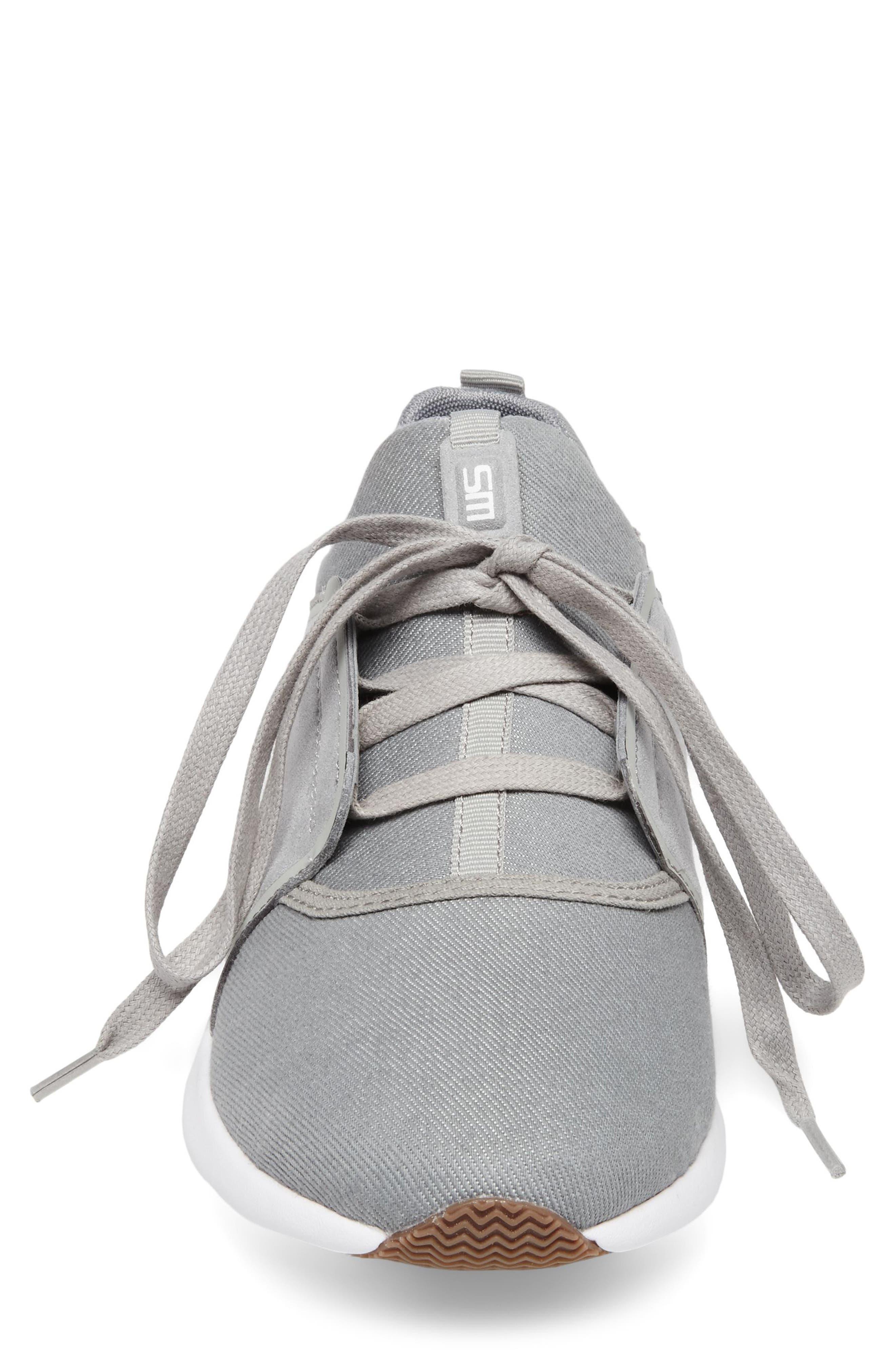 Barrett Sneaker,                             Alternate thumbnail 4, color,                             Grey Leather