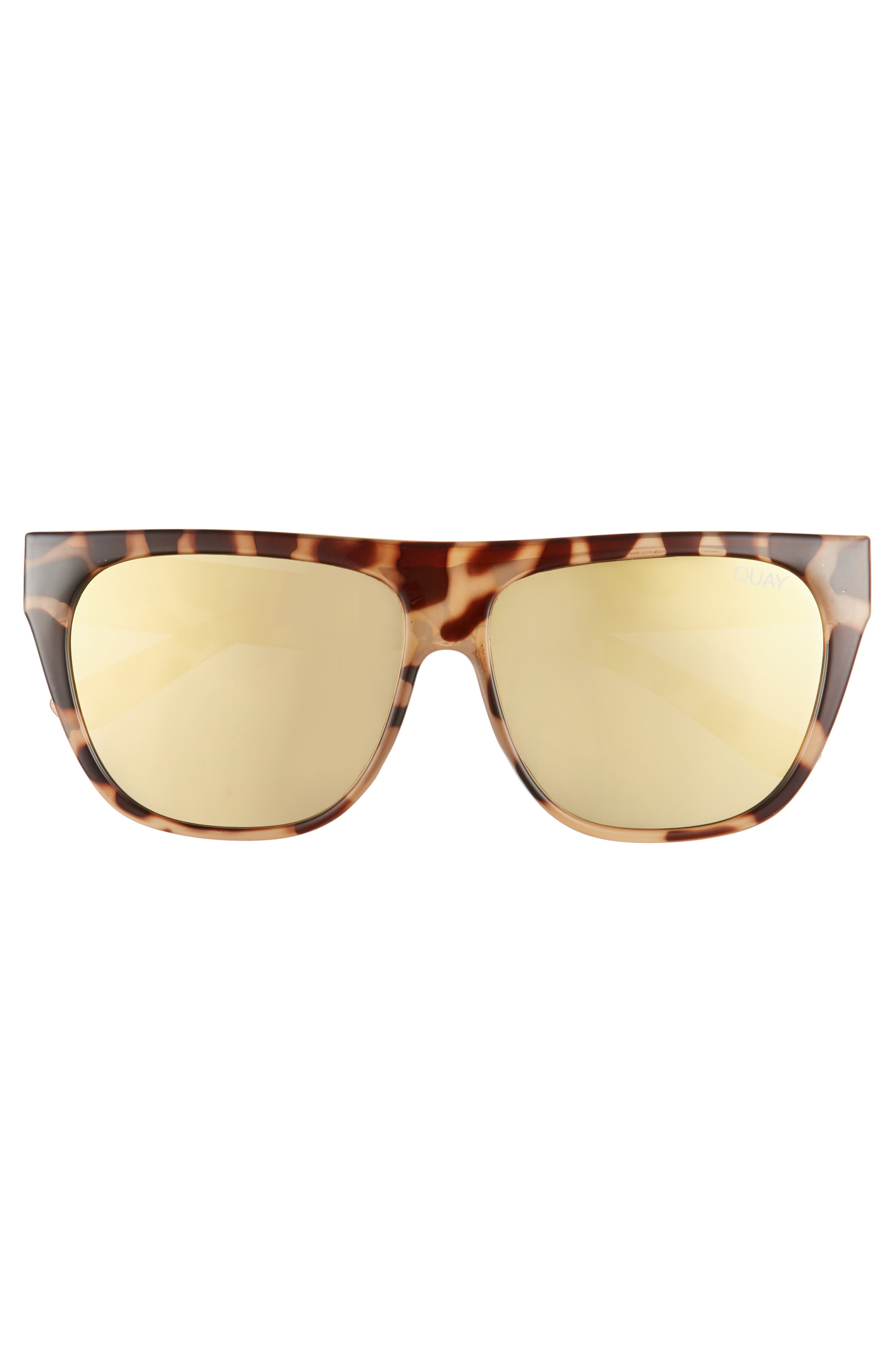 x Tony Bianco Drama by Day 55mm Square Sunglasses,                             Alternate thumbnail 3, color,                             Tort/ Gold