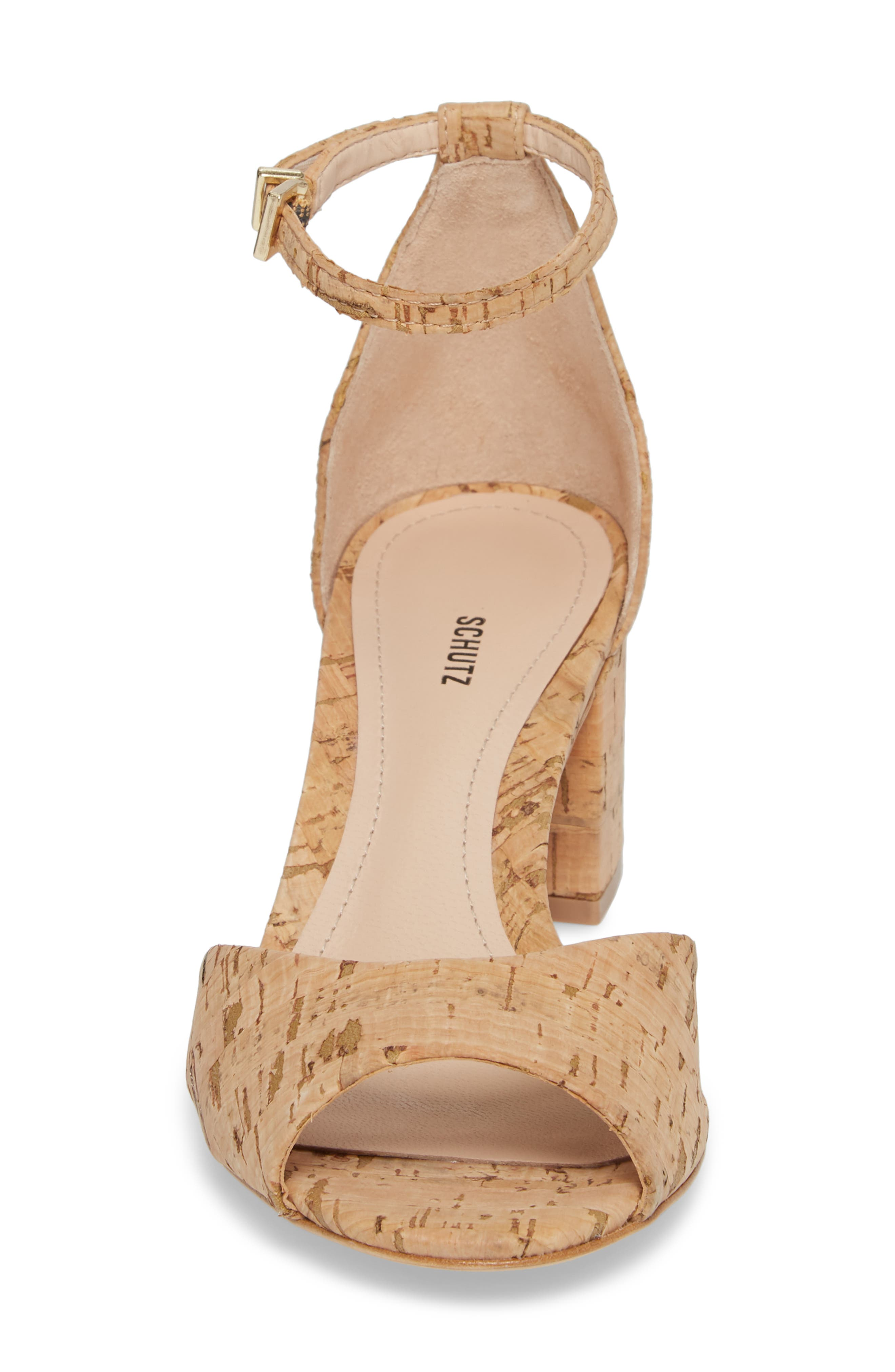 Roama Block Heel Sandal,                             Alternate thumbnail 4, color,                             Natural