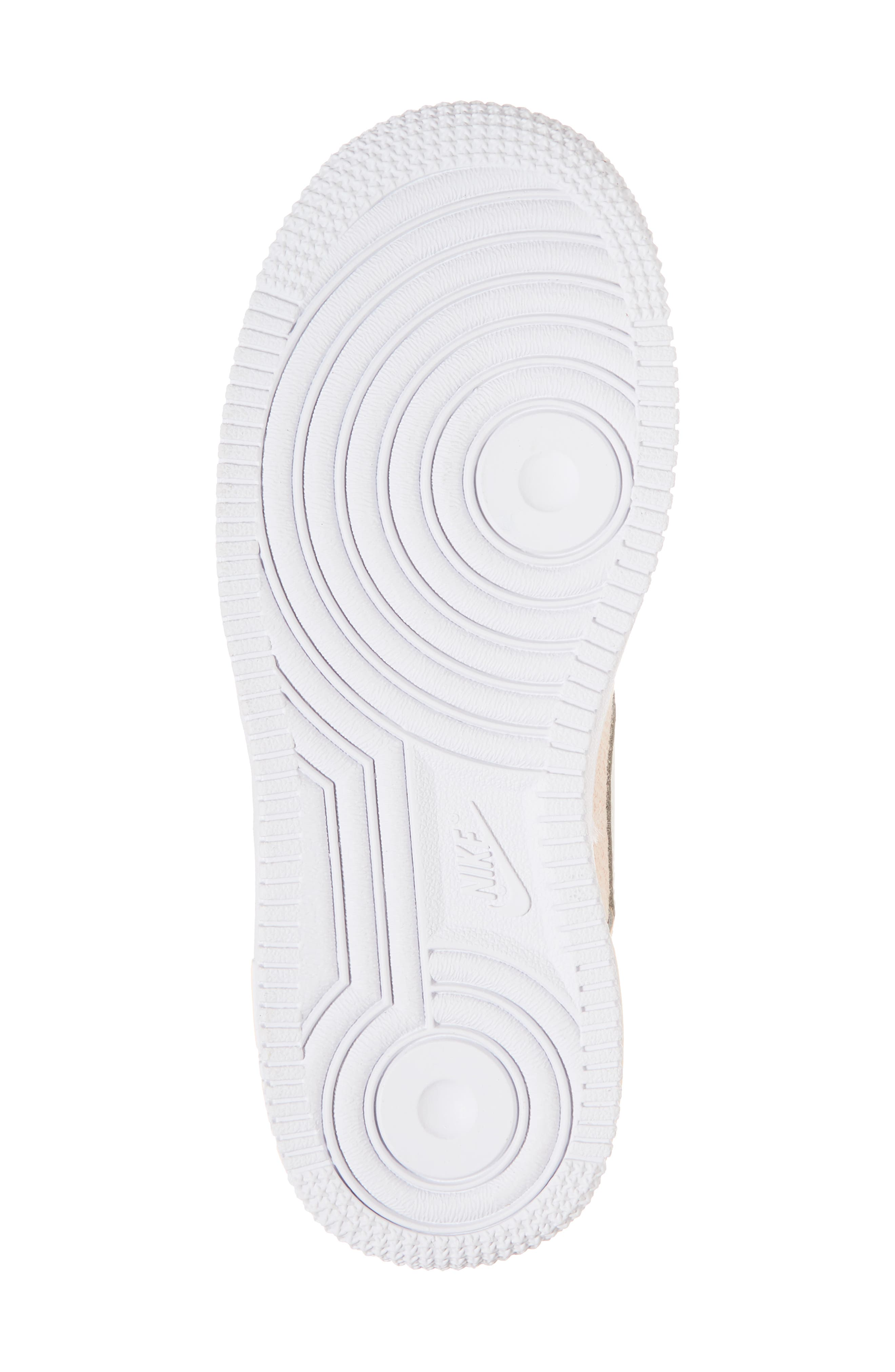 Air Force 1 LV8 Sneaker,                             Alternate thumbnail 6, color,                             Crimson Tint/ Sail/ White