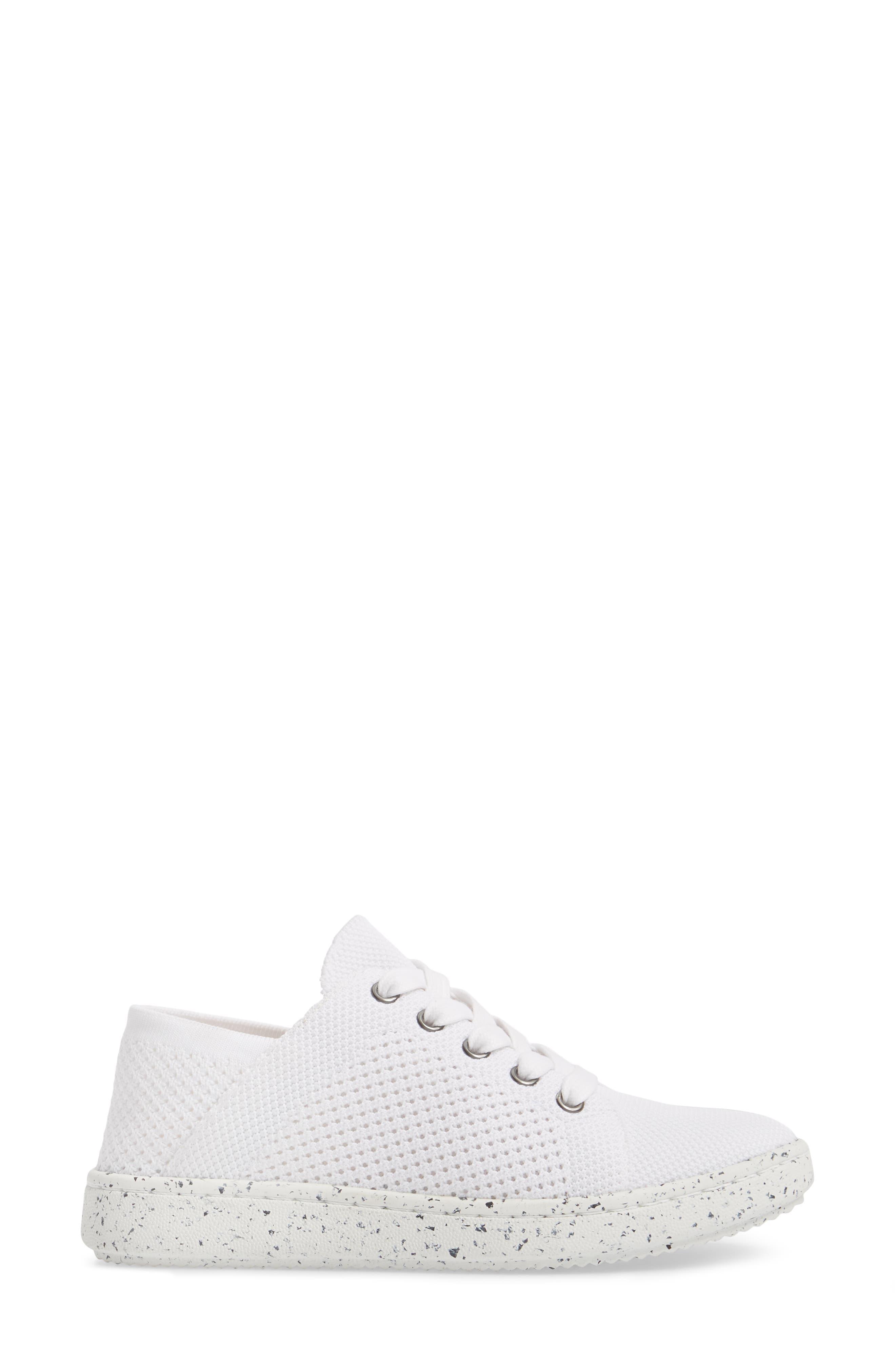Clifton Sneaker,                             Alternate thumbnail 3, color,                             White Fabric