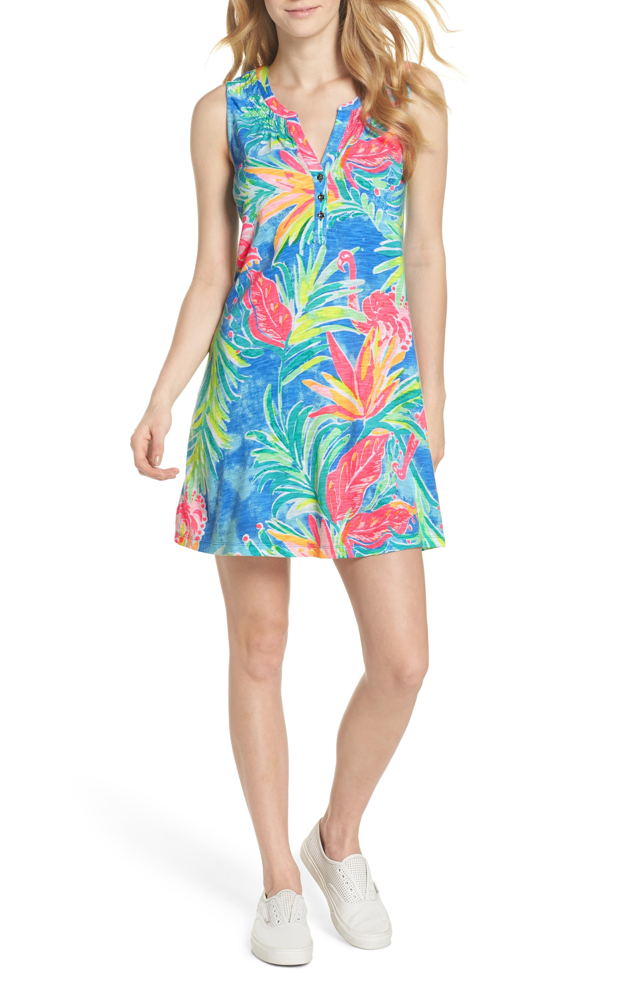 Essie Shift Dress,                         Main,                         color, Bennet Blue Showstopper