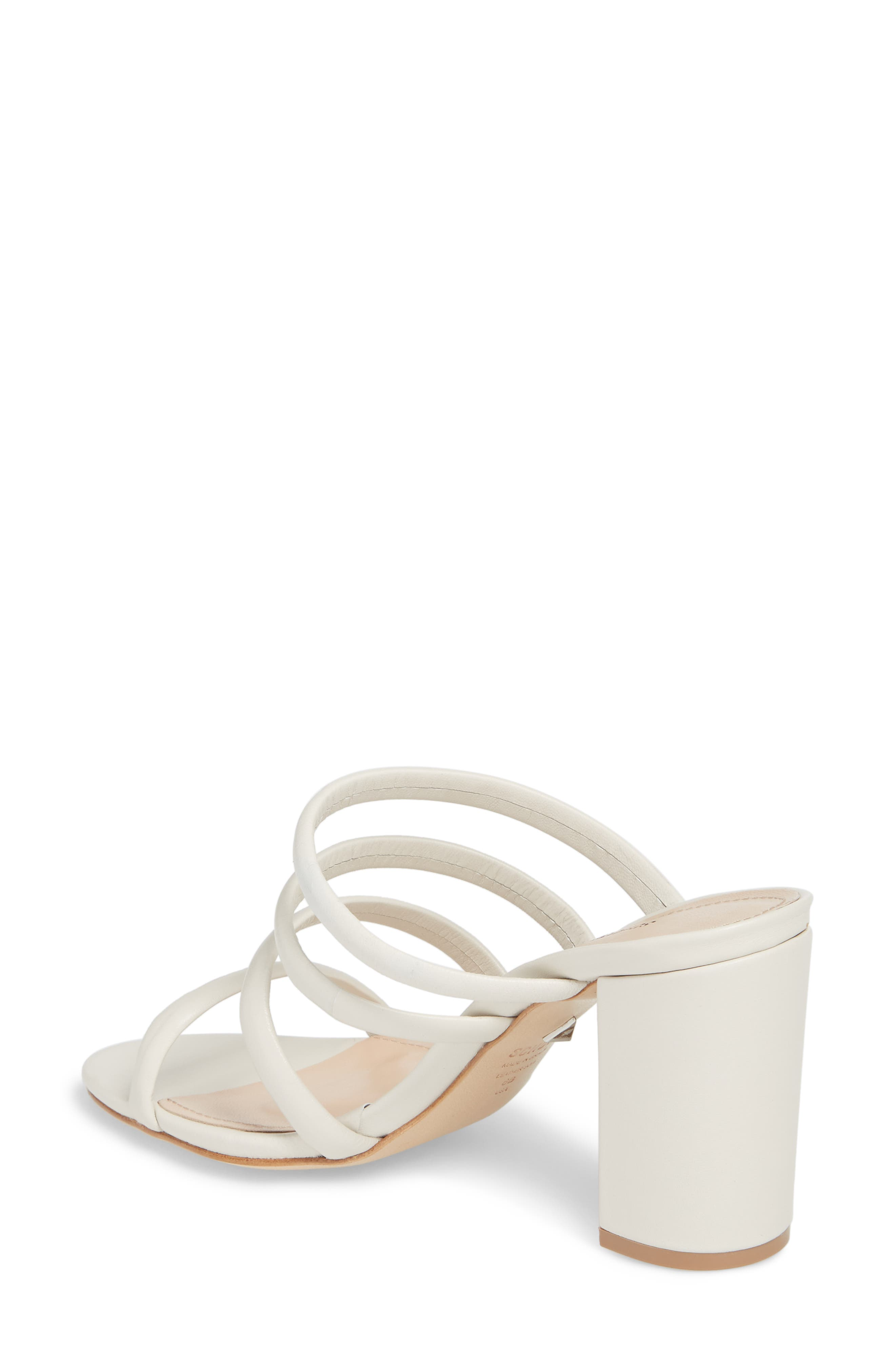 Felisa Block Heel Sandal,                             Alternate thumbnail 2, color,                             Pearl Leather