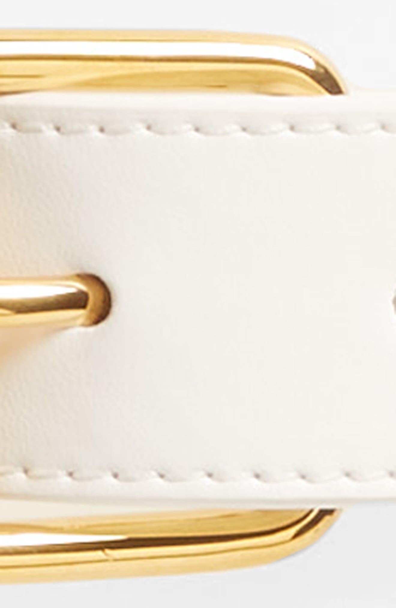 Eco Alter Nappa Belt,                             Alternate thumbnail 3, color,                             Pure White