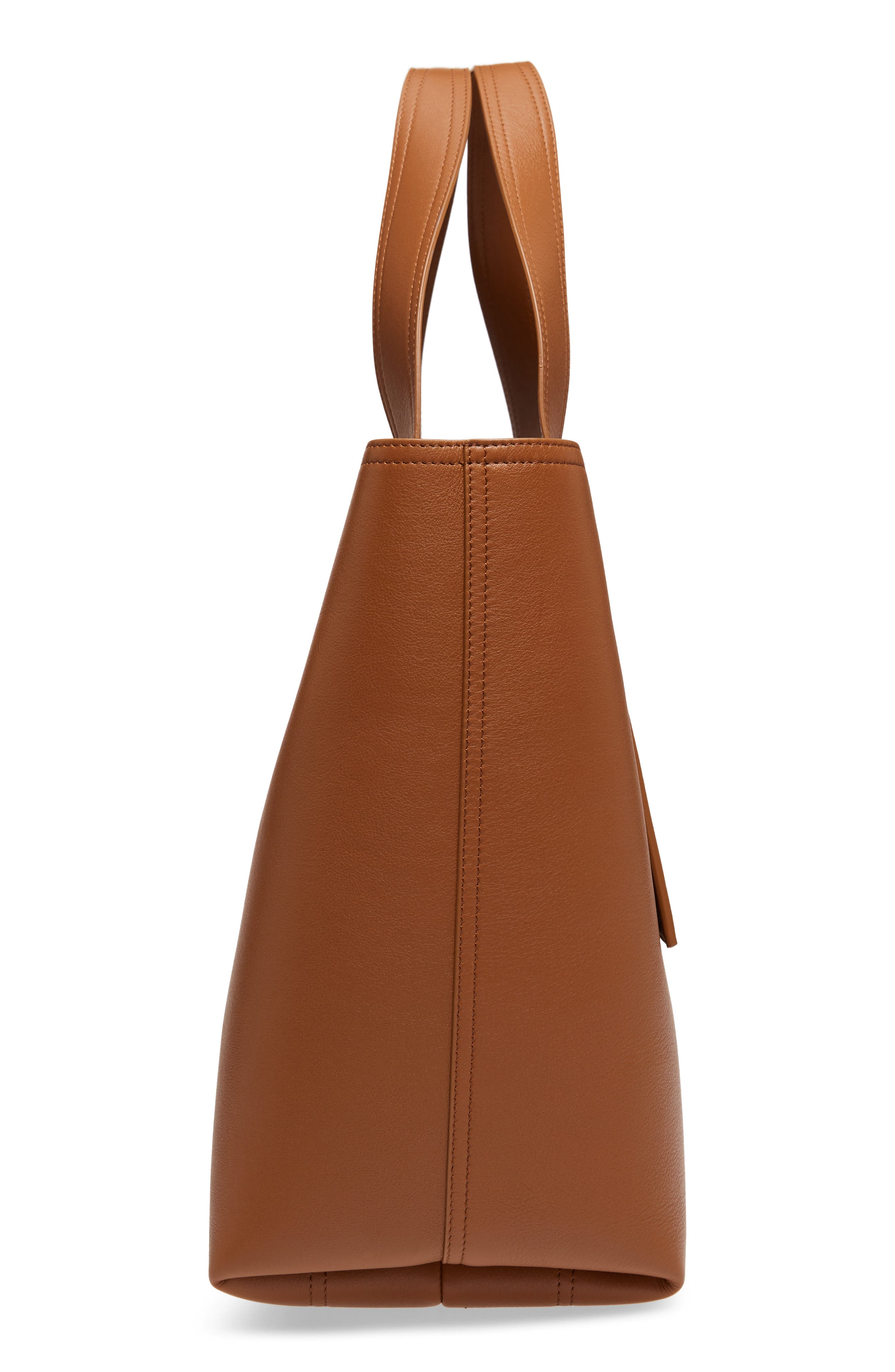 Apron Leather Tote,                             Alternate thumbnail 5, color,                             Cuoio