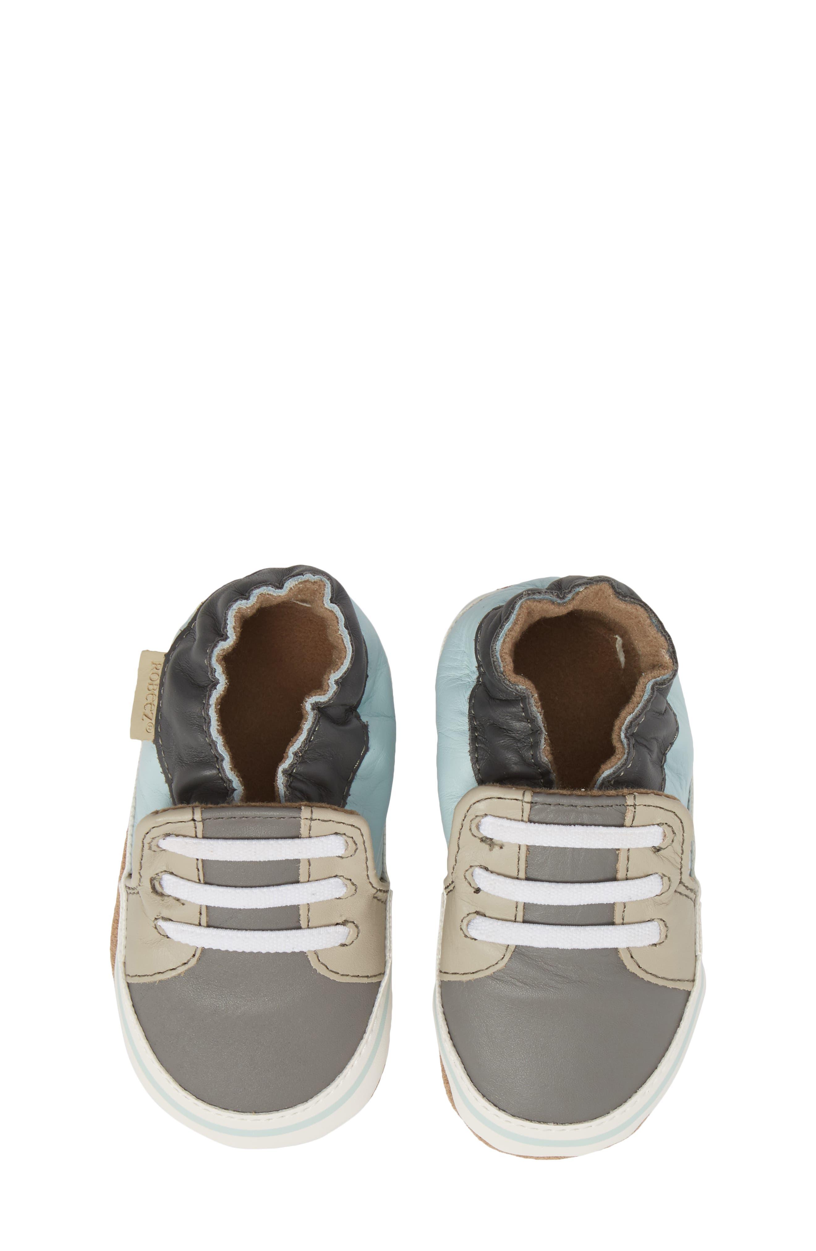 Trendy Chris Crib Sneaker,                             Main thumbnail 1, color,                             Grey