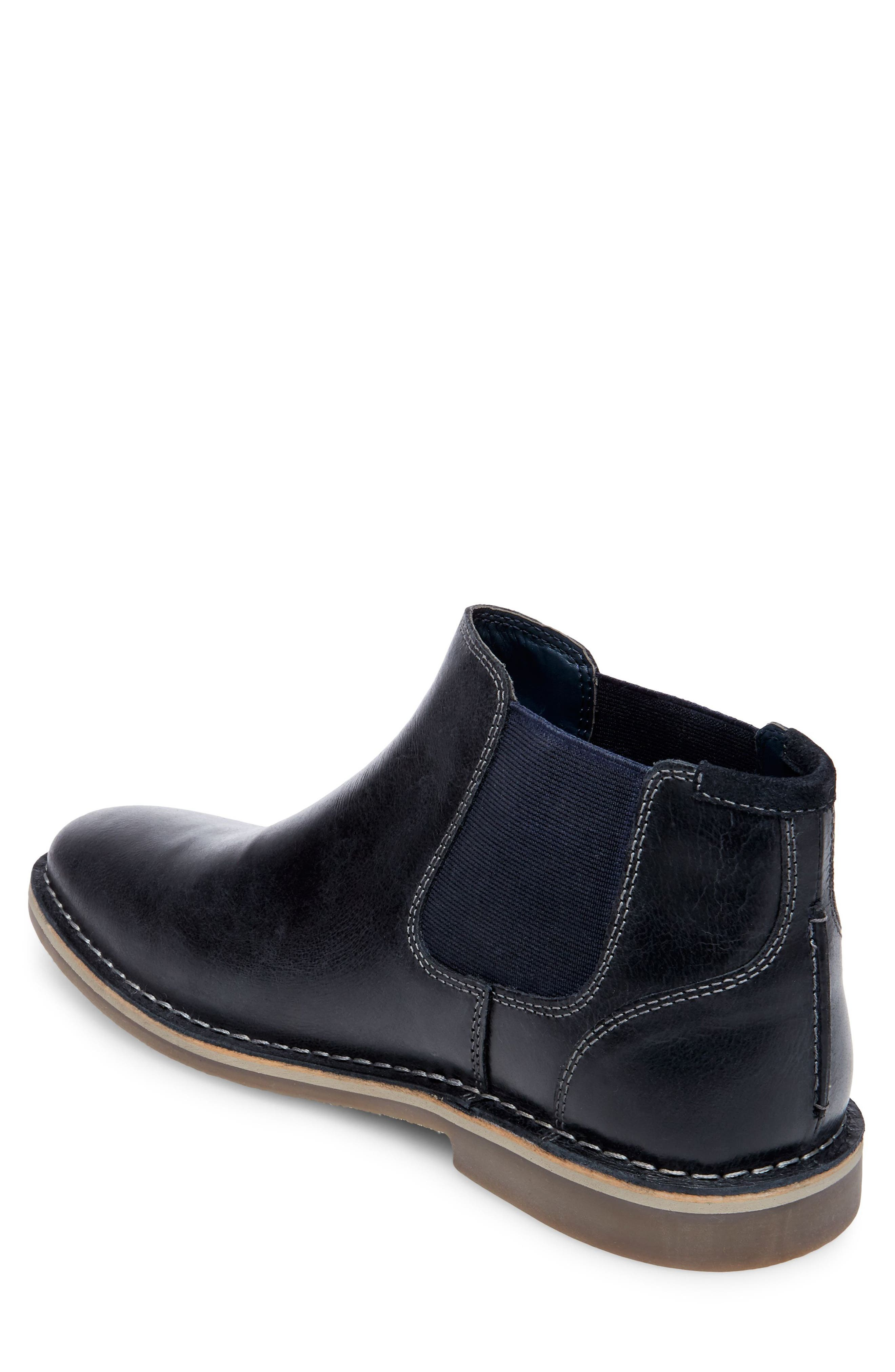 Horus Mid Top Chelsea Boot,                             Alternate thumbnail 2, color,                             Navy Leather
