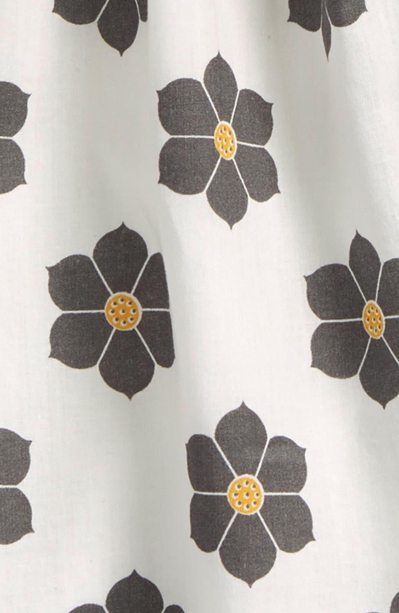 Floral Print Sleeveless Dress,                             Alternate thumbnail 2, color,                             White