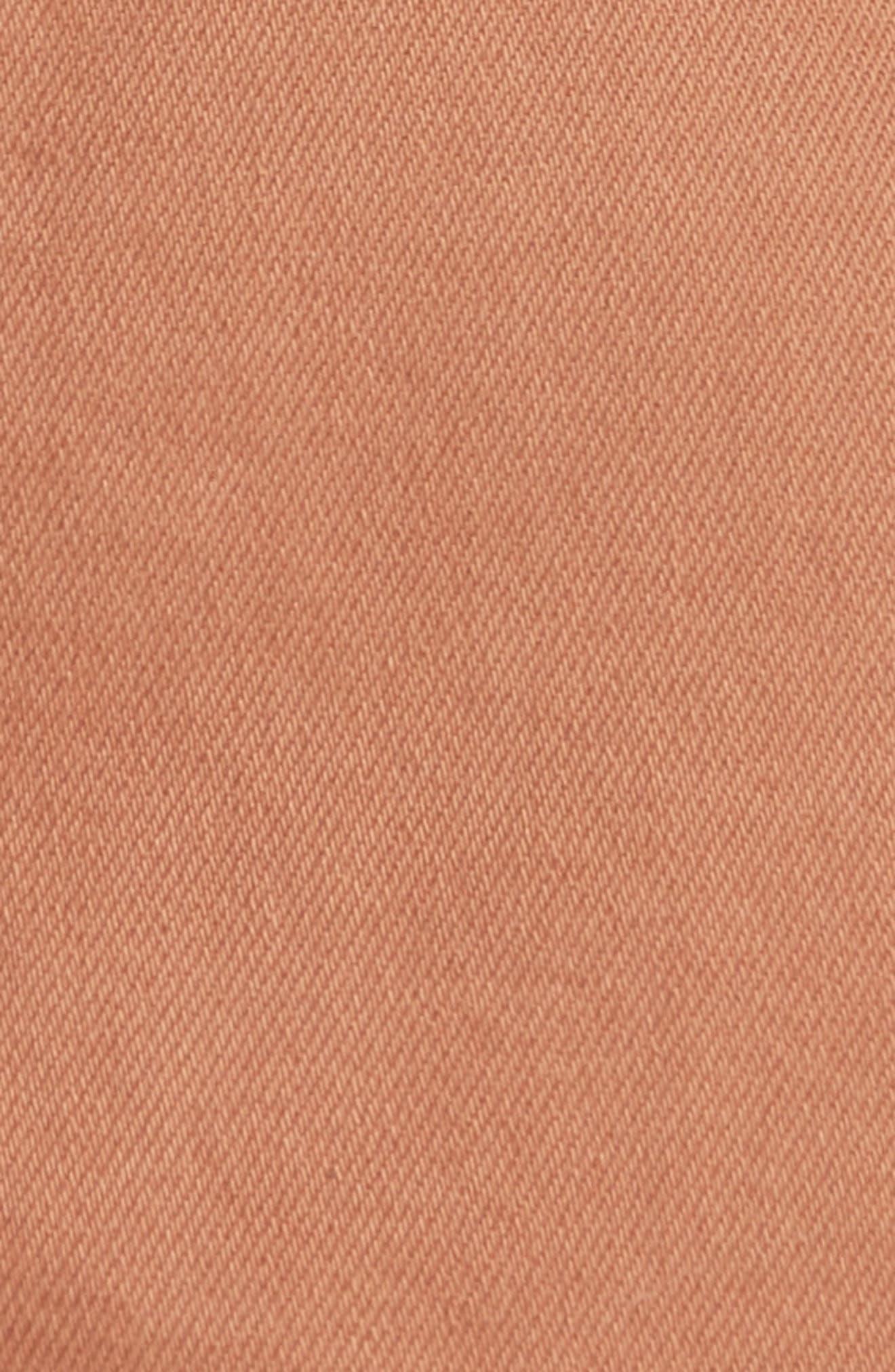 Denim A-Line Skirt,                             Alternate thumbnail 5, color,                             Bronze