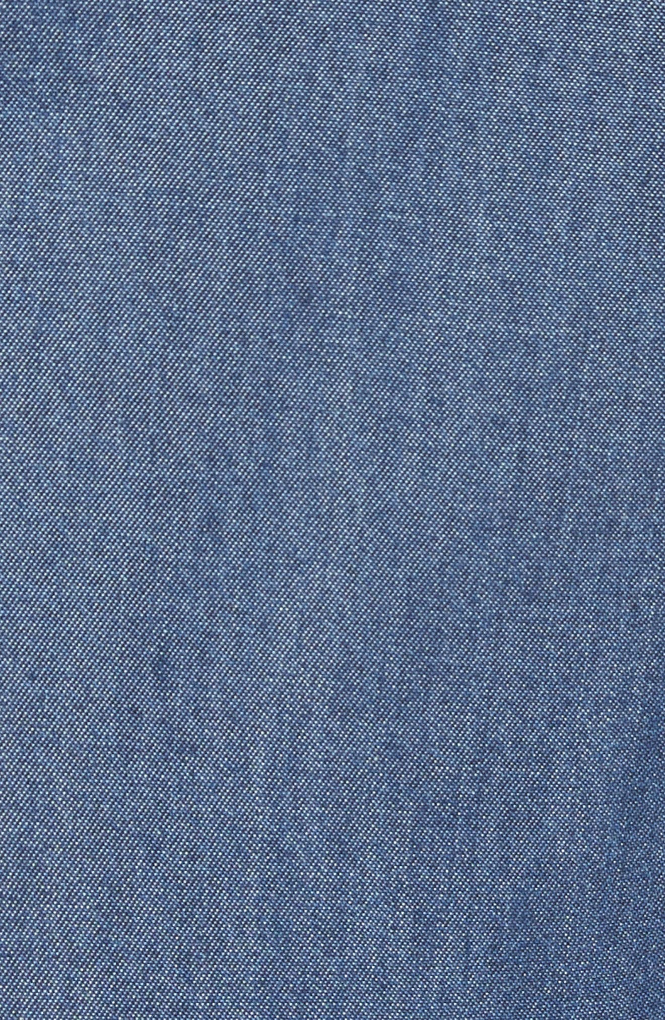 Colour by Numbers Denim Dress,                             Alternate thumbnail 5, color,                             Mid-Wash