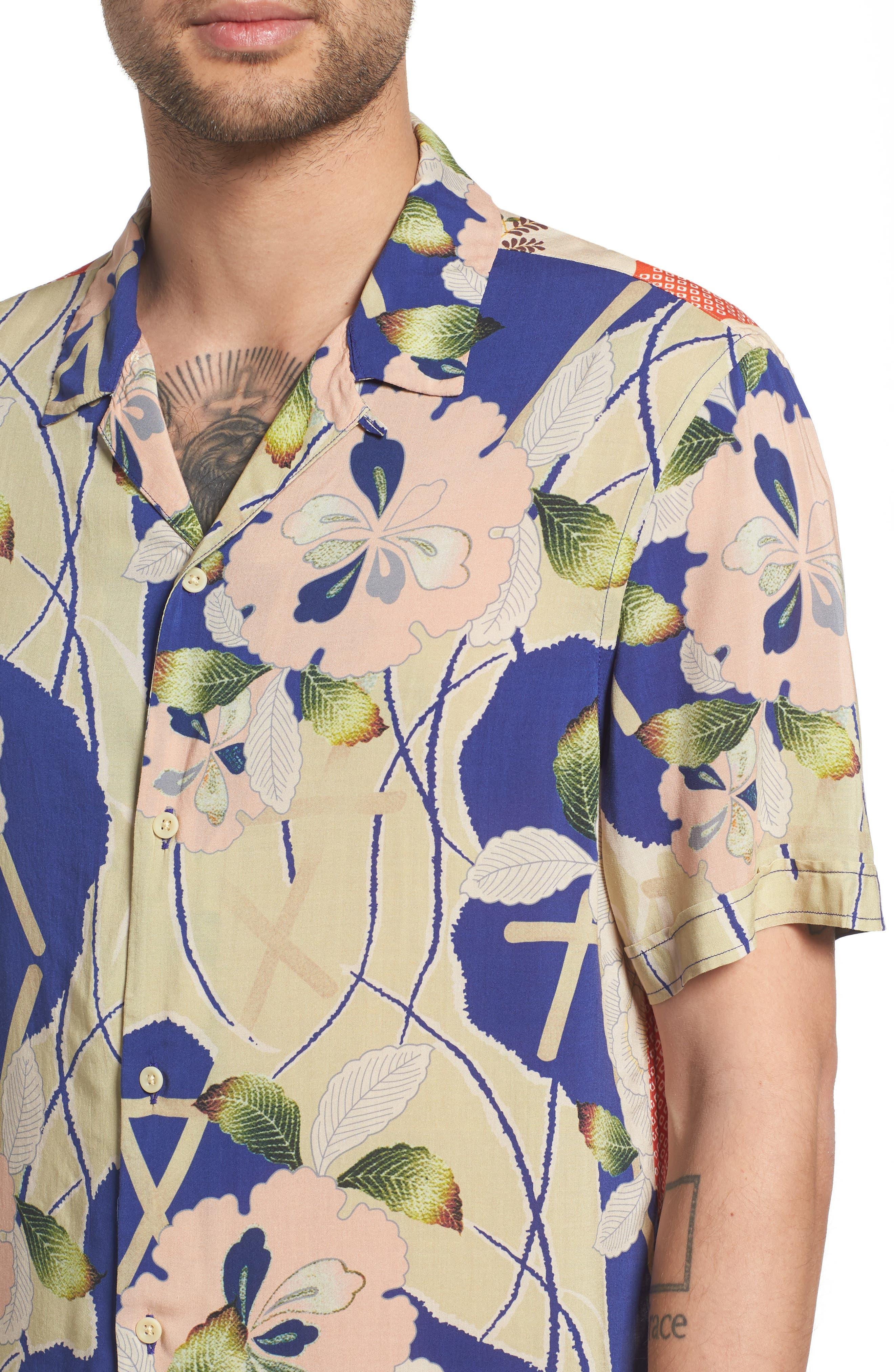Fuyugi Regular Fit Short Sleeve Sport Shirt,                             Alternate thumbnail 2, color,                             Ink Navy