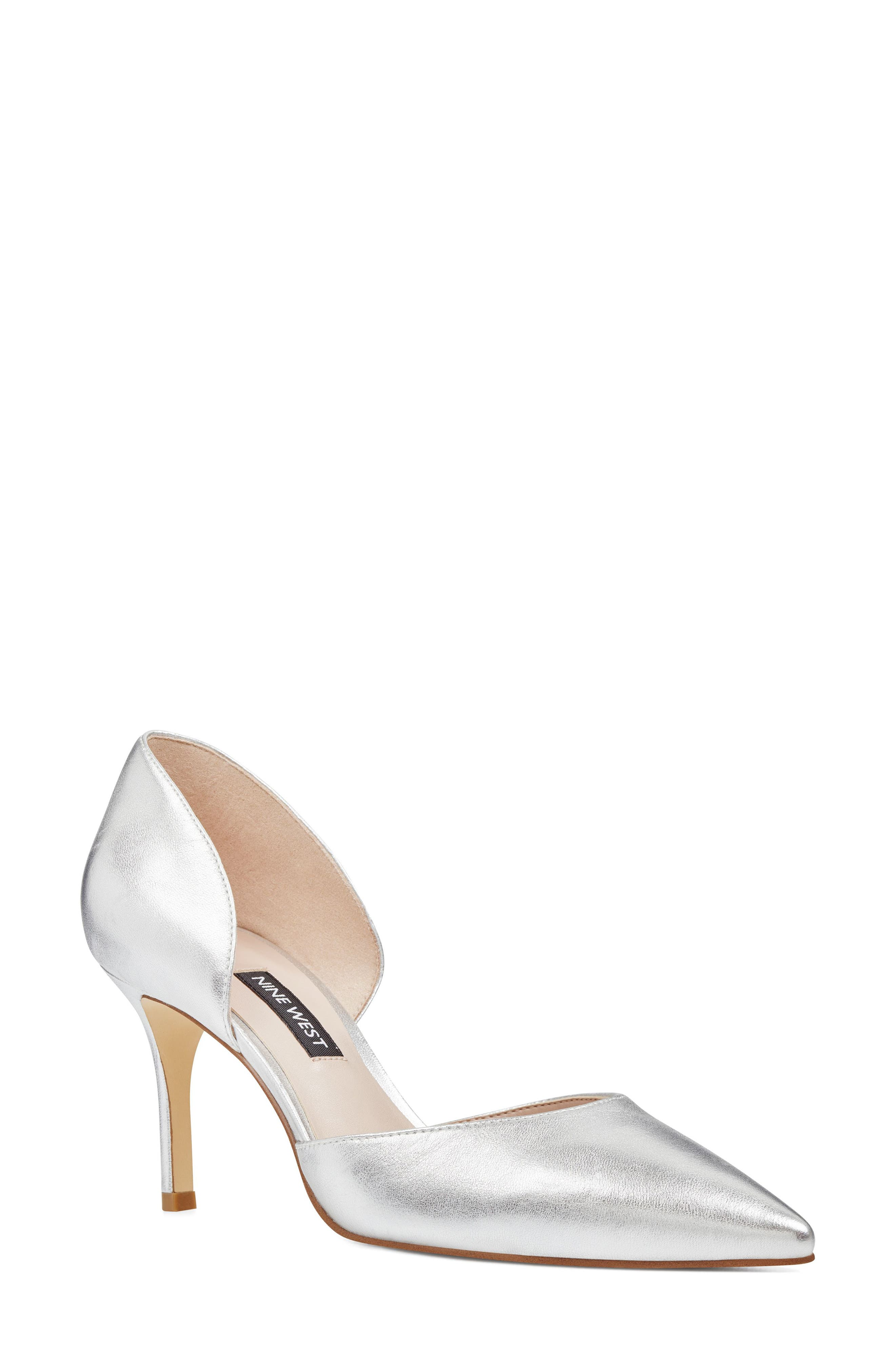 Mossiel Open Sided Pump,                         Main,                         color, Silver
