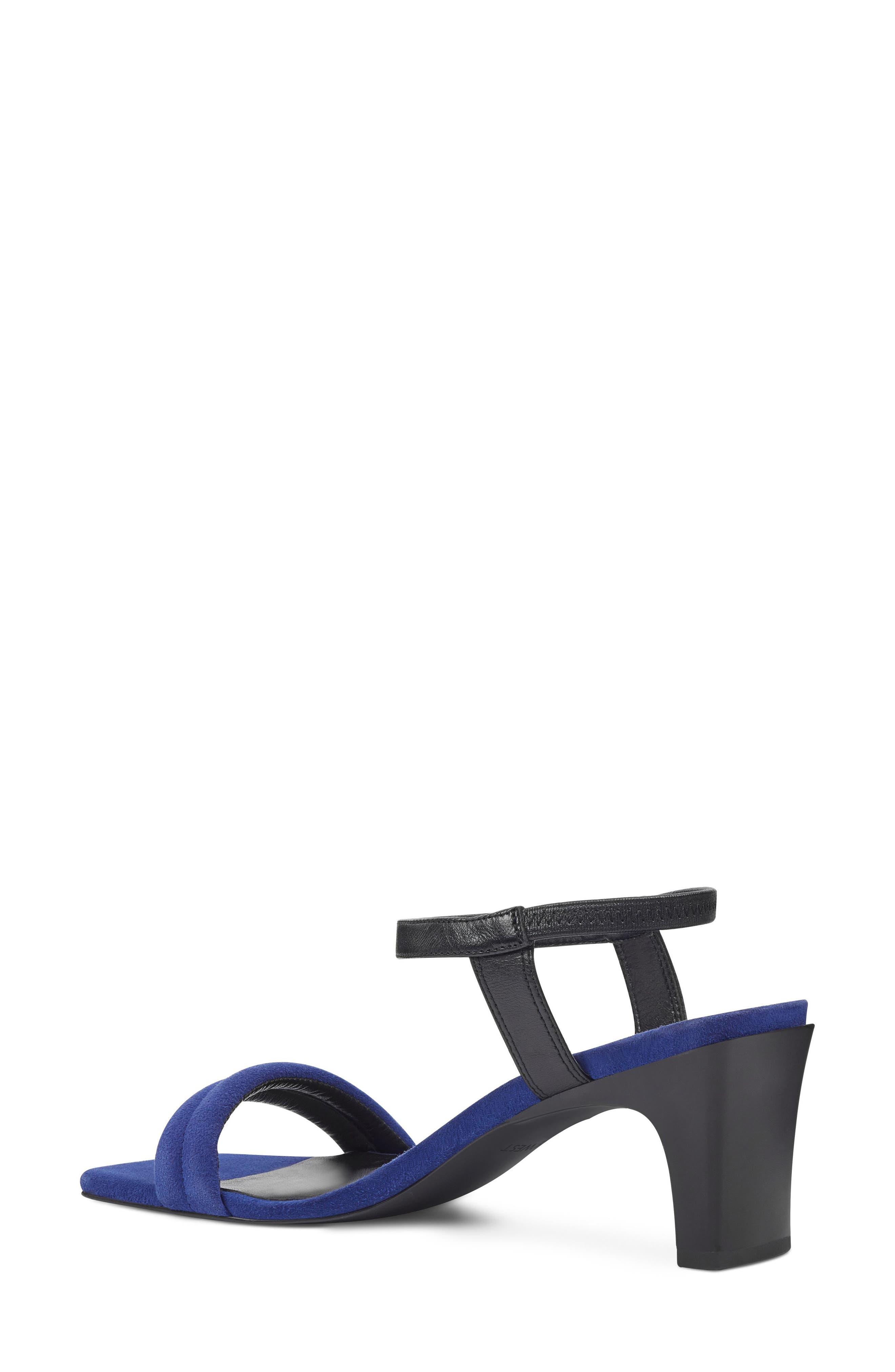 Urgreat Ankle Strap Sandal,                             Alternate thumbnail 2, color,                             Dark Blue/ Black Suede