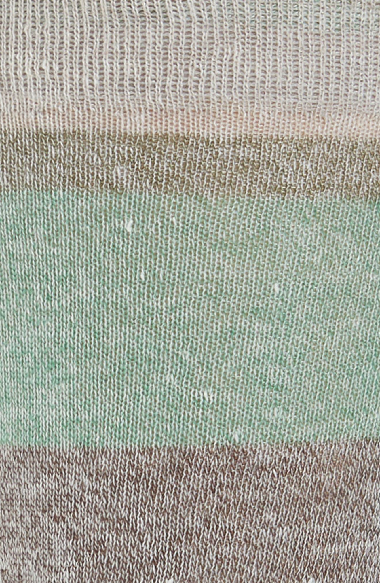 Multistripe Crew Socks,                             Alternate thumbnail 2, color,                             Sand