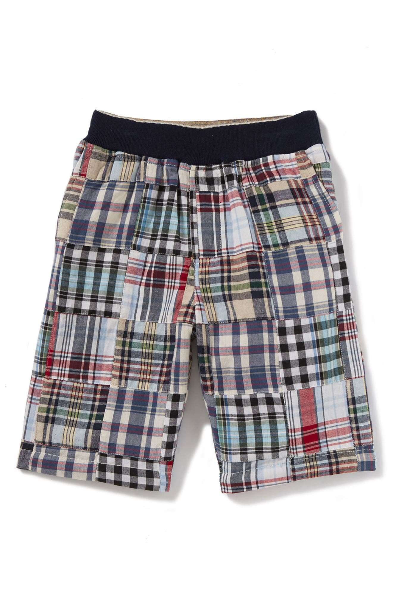 Maxwell Patchwork Shorts,                             Main thumbnail 1, color,                             Blue