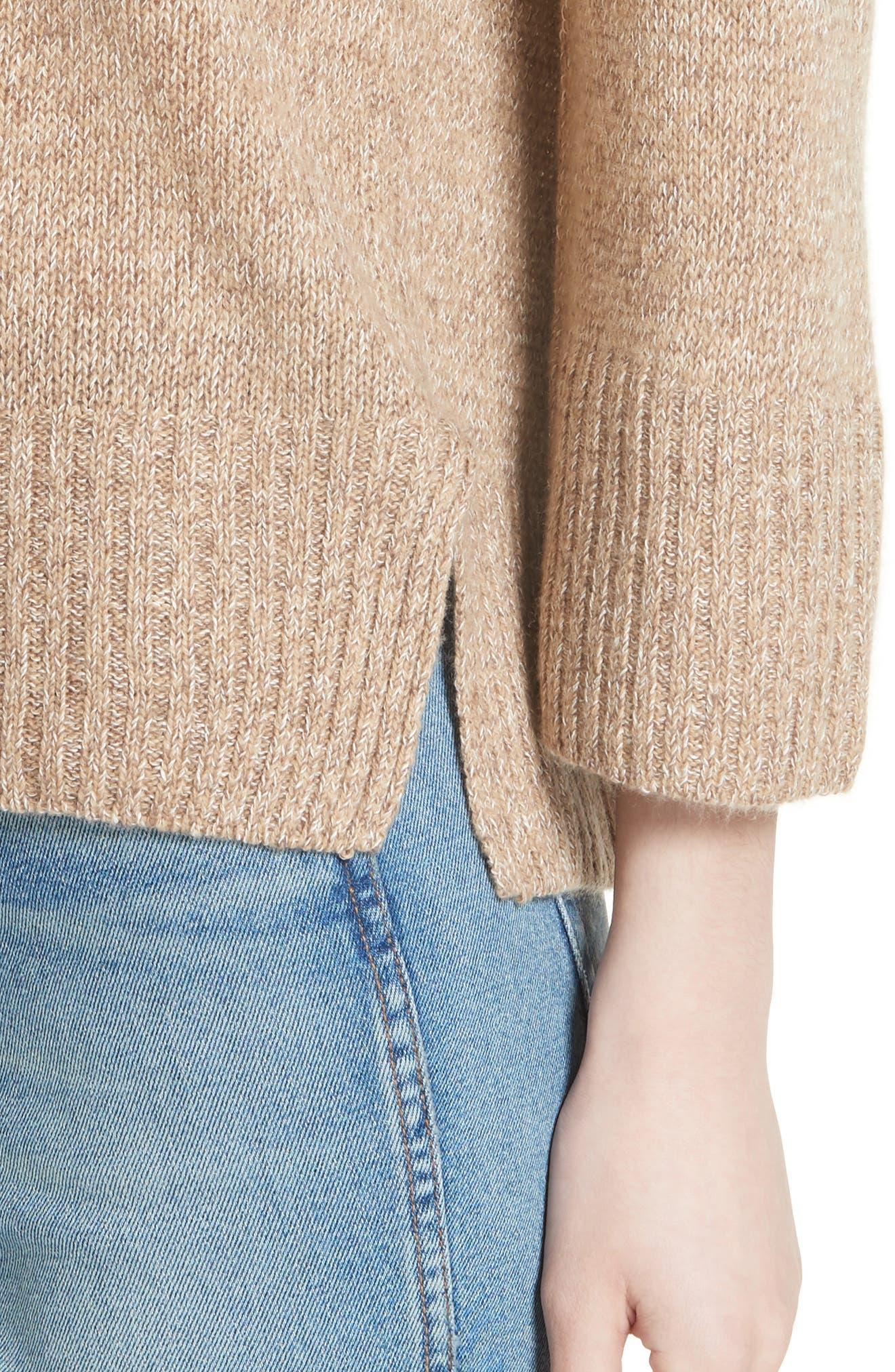 Keyhole Back Sweater,                             Alternate thumbnail 4, color,                             Camel