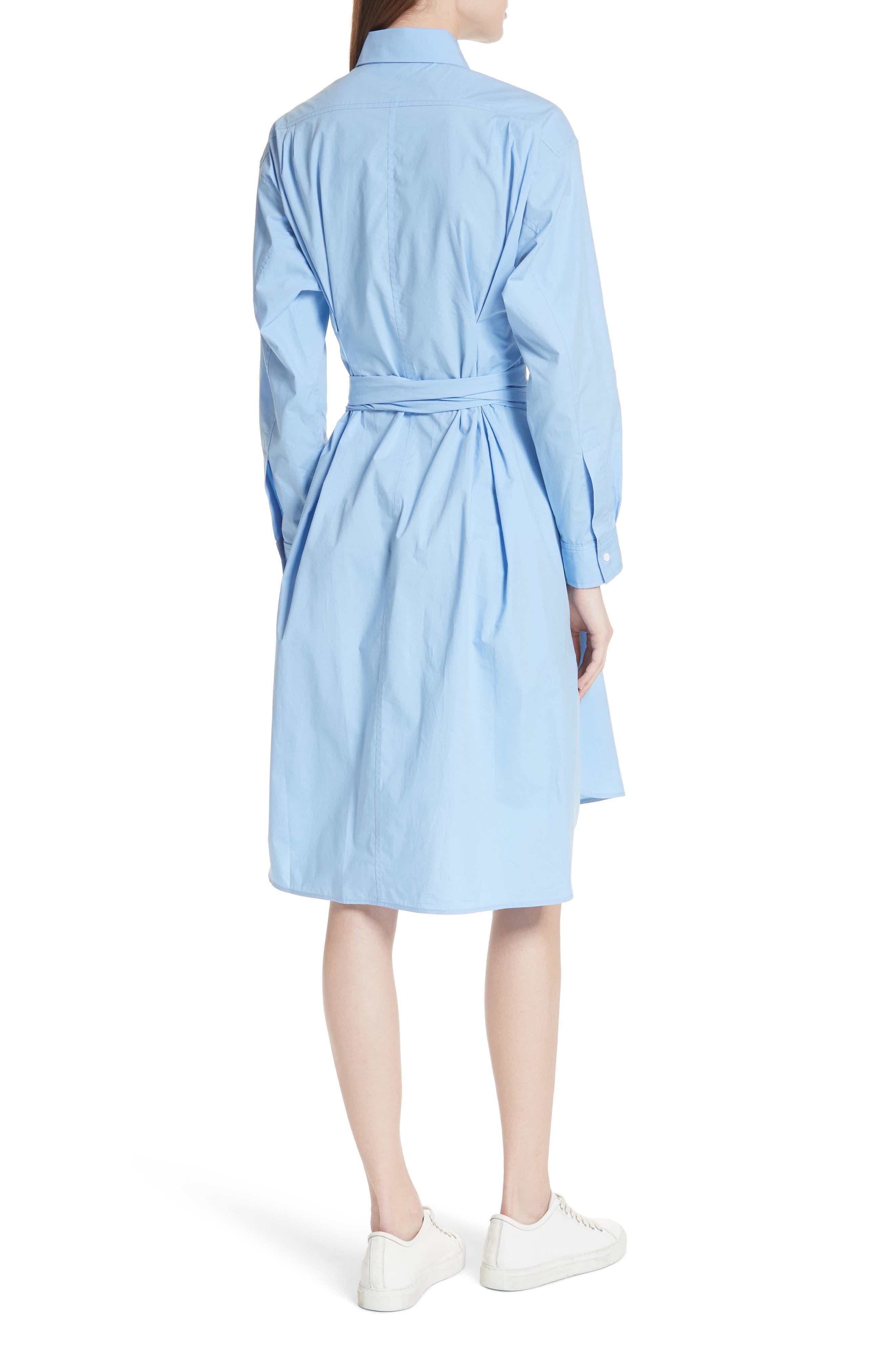 Alternate Image 2  - sandro Bleu Ciel Cotton Shirtdress