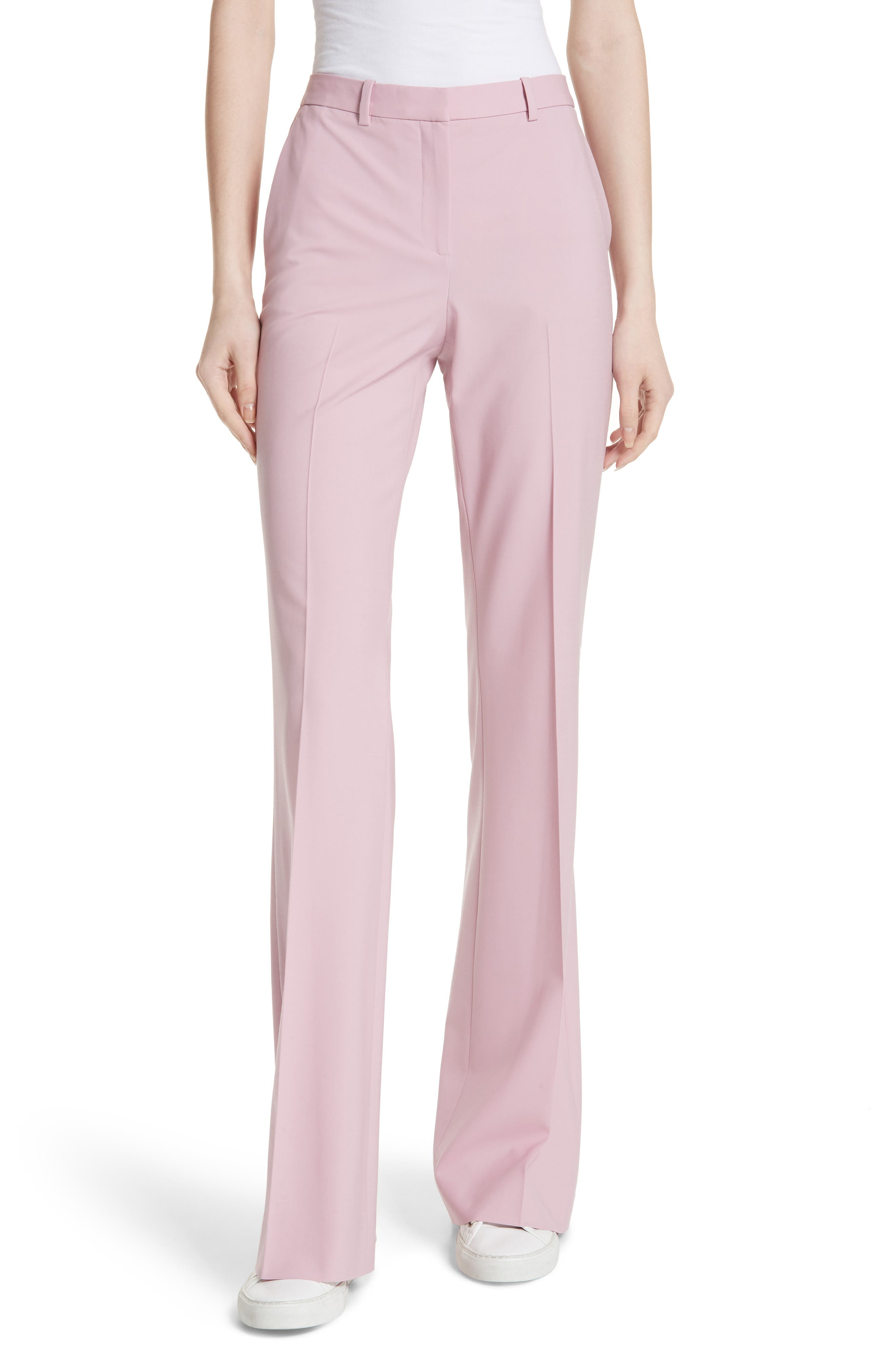 Demitria 2 Stretch Wool Suit Pants,                         Main,                         color, Berry Tint