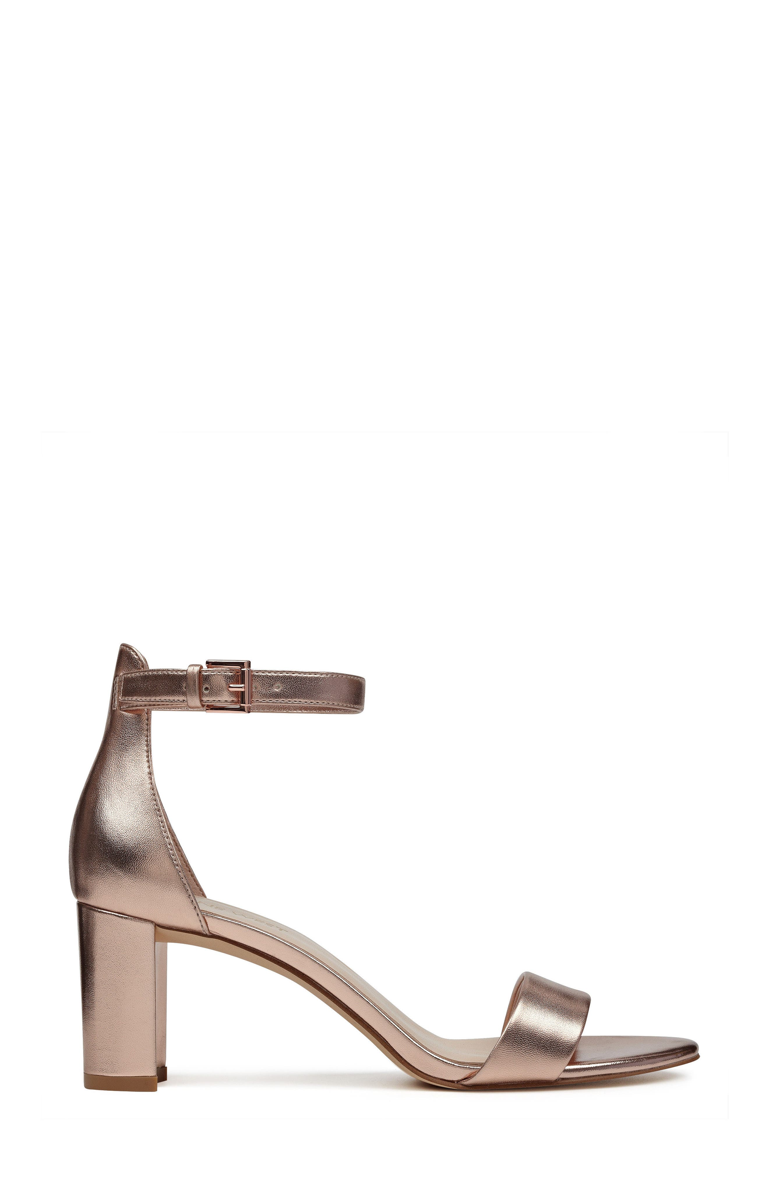 Pruce Ankle Strap Sandal,                             Alternate thumbnail 3, color,                             Matte Rose Gold