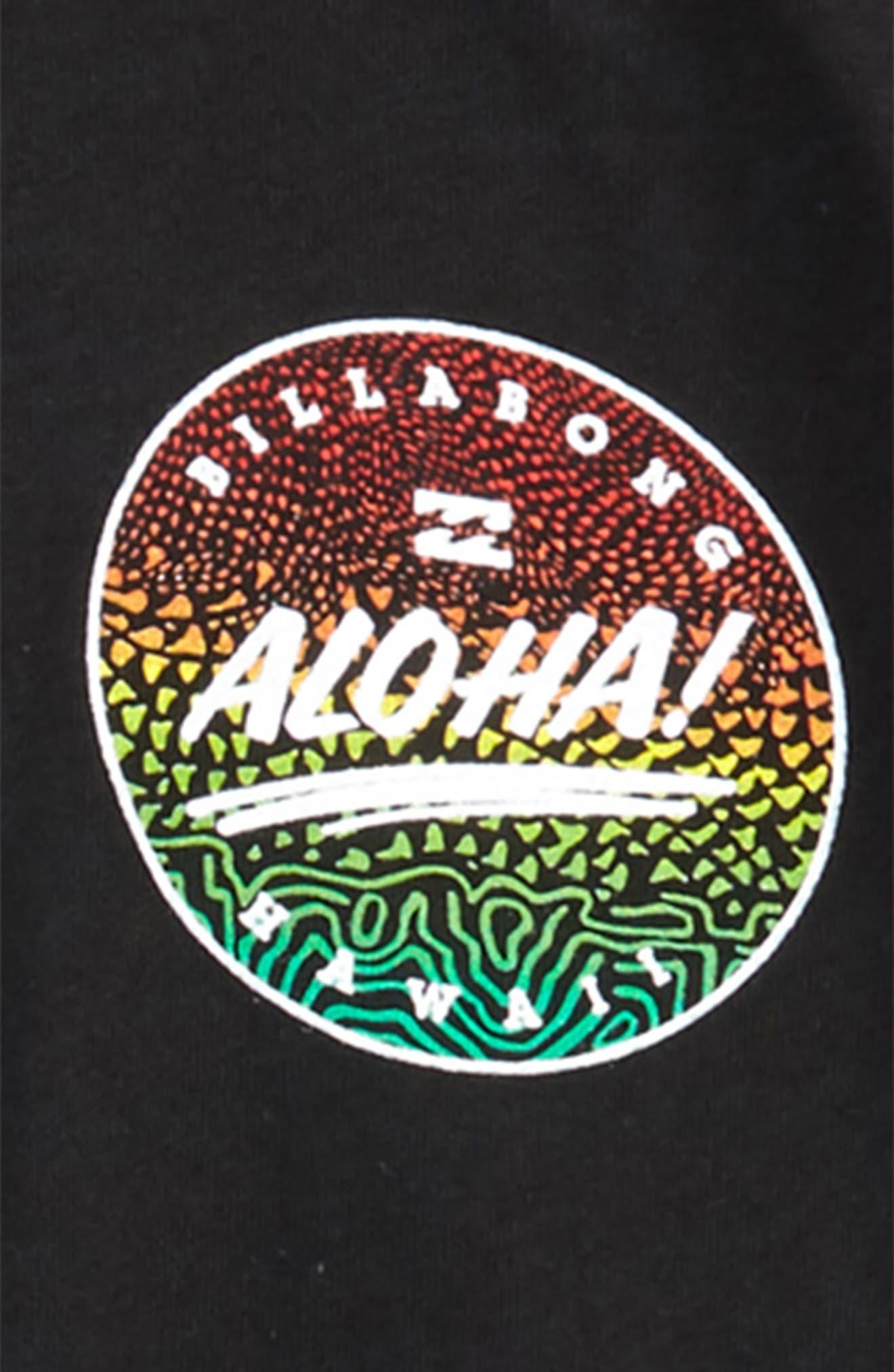 Aloha T-Shirt,                             Alternate thumbnail 3, color,                             Black