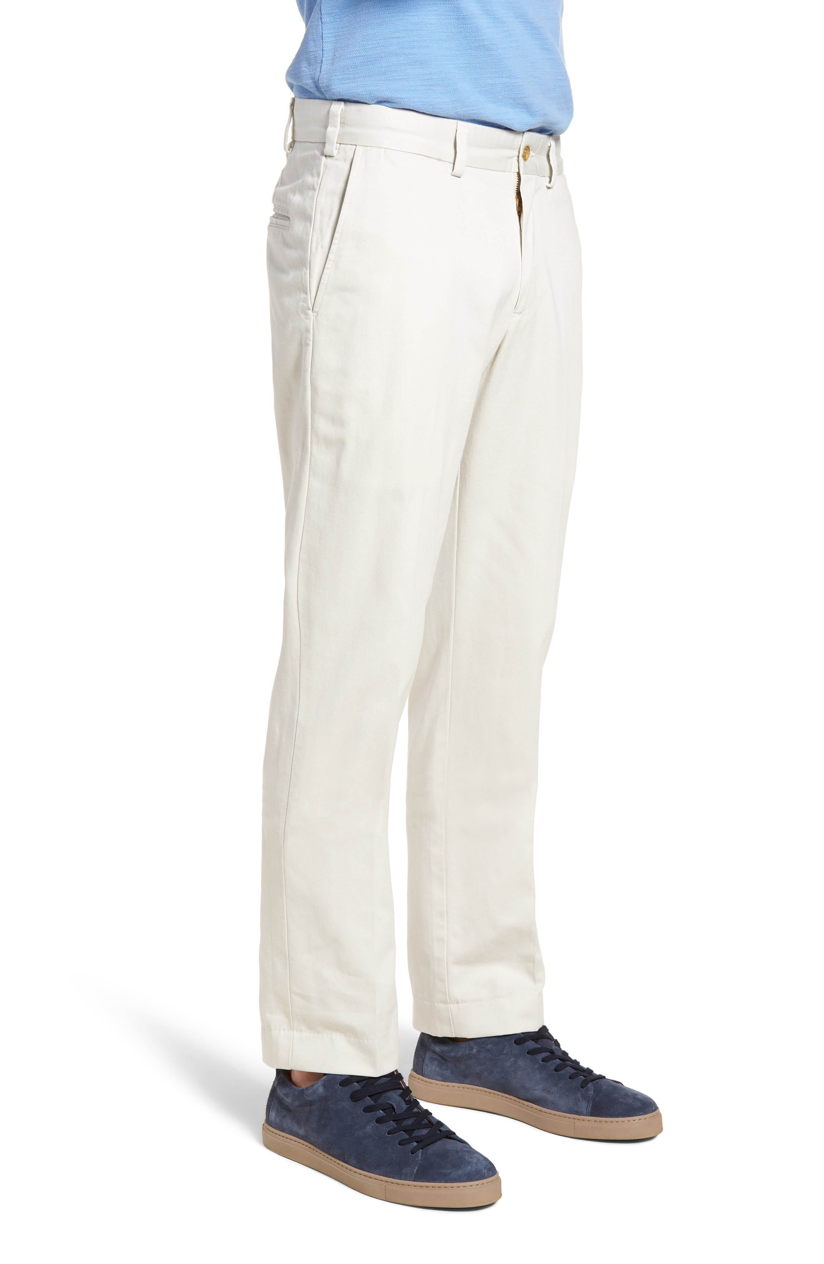 M3 Straight Fit Flat Front Vintage Twill Pants,                             Alternate thumbnail 3, color,                             Stone