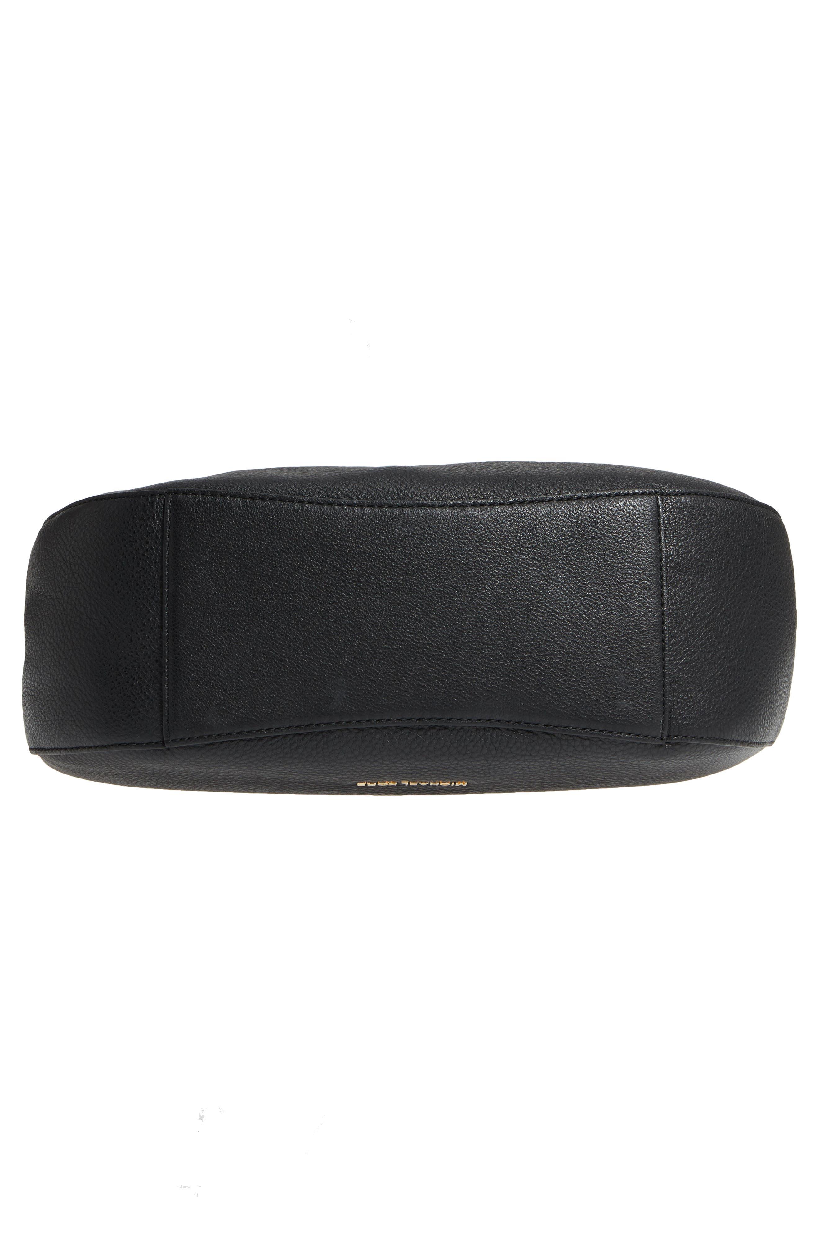 Fulton Leather Hobo,                             Alternate thumbnail 6, color,                             Black