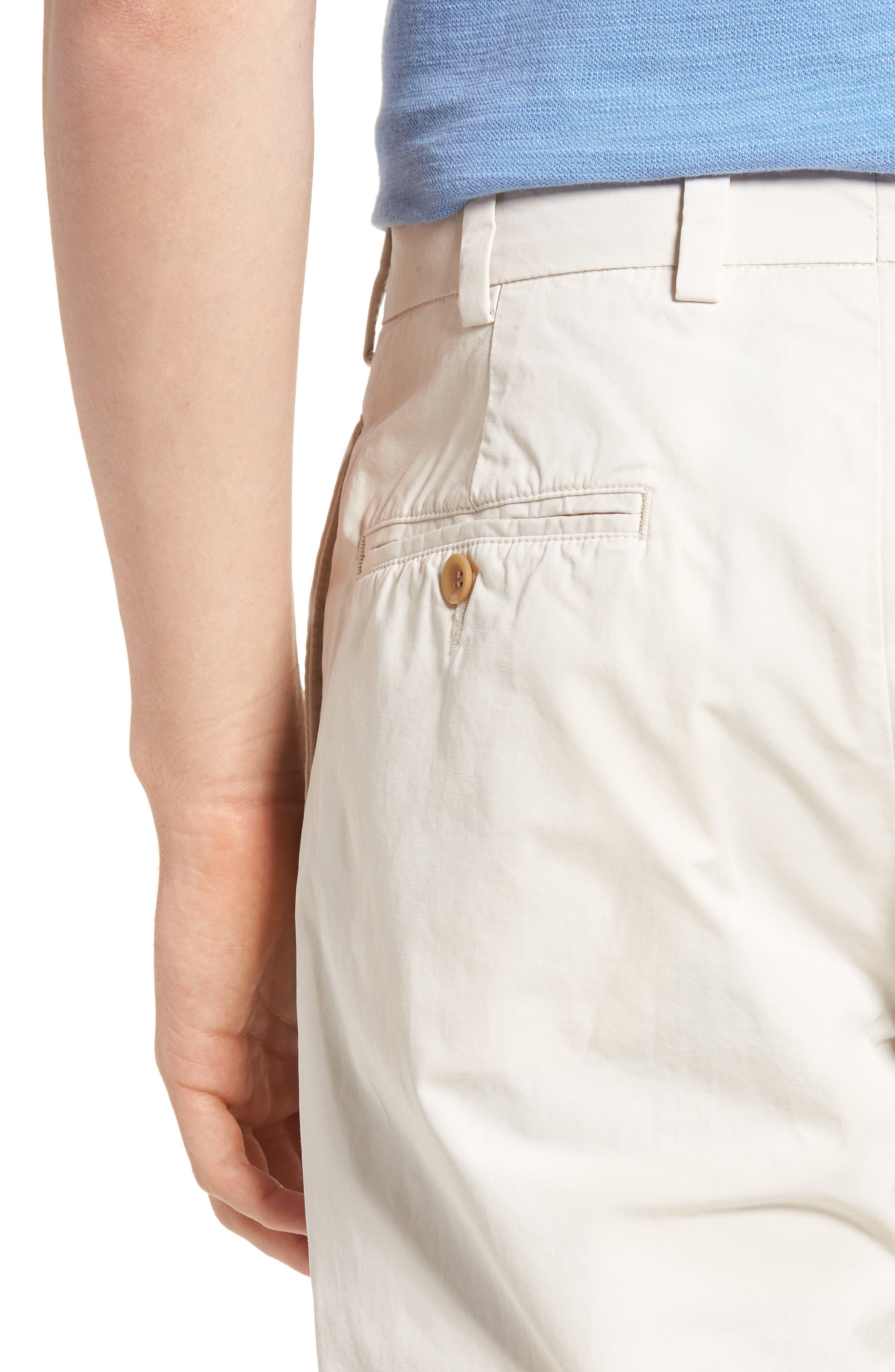 M2 Classic Fit Flat Front Tropical Cotton Poplin Pants,                             Alternate thumbnail 4, color,                             Sand