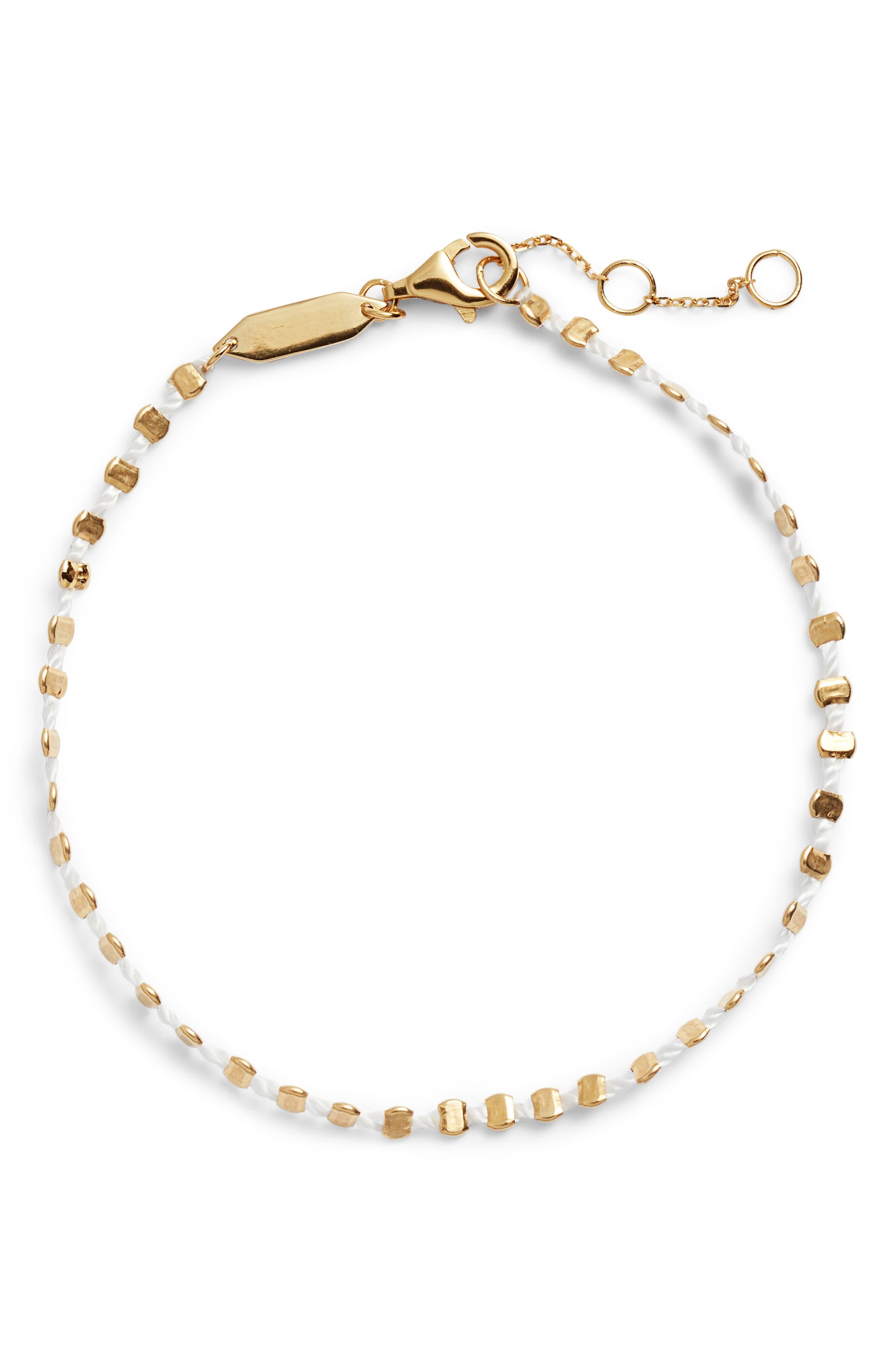 Sydney Beaded Rope Bracelet,                             Main thumbnail 1, color,                             Gold