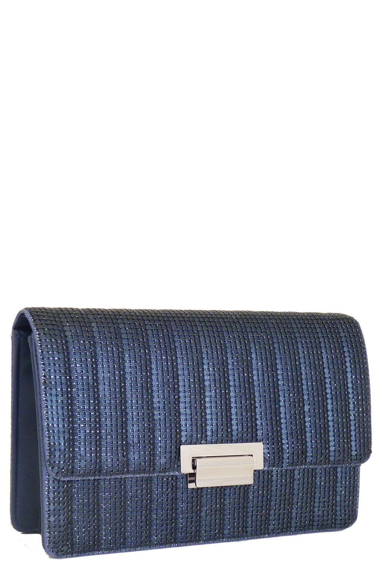 Sydney Quilted Clutch,                             Main thumbnail 1, color,                             Midnight