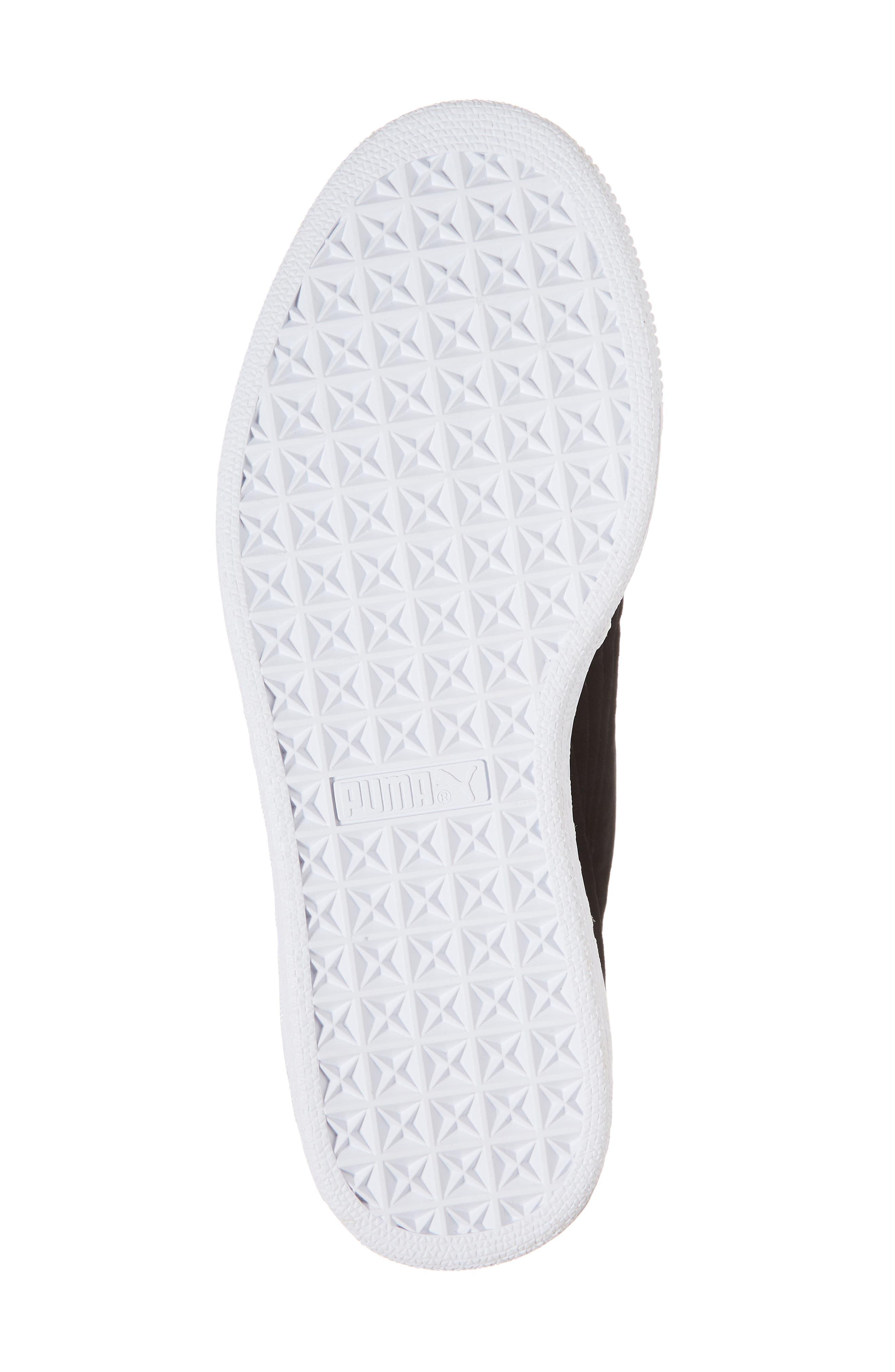 Basket Heart Hyper Embroidered Sneaker,                             Alternate thumbnail 6, color,                             Black